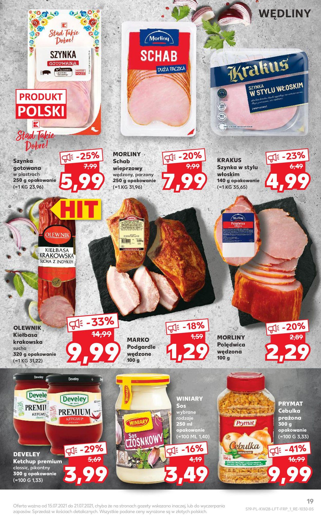 Gazetka promocyjna Kaufland - 15.07-21.07.2021 (Strona 19)