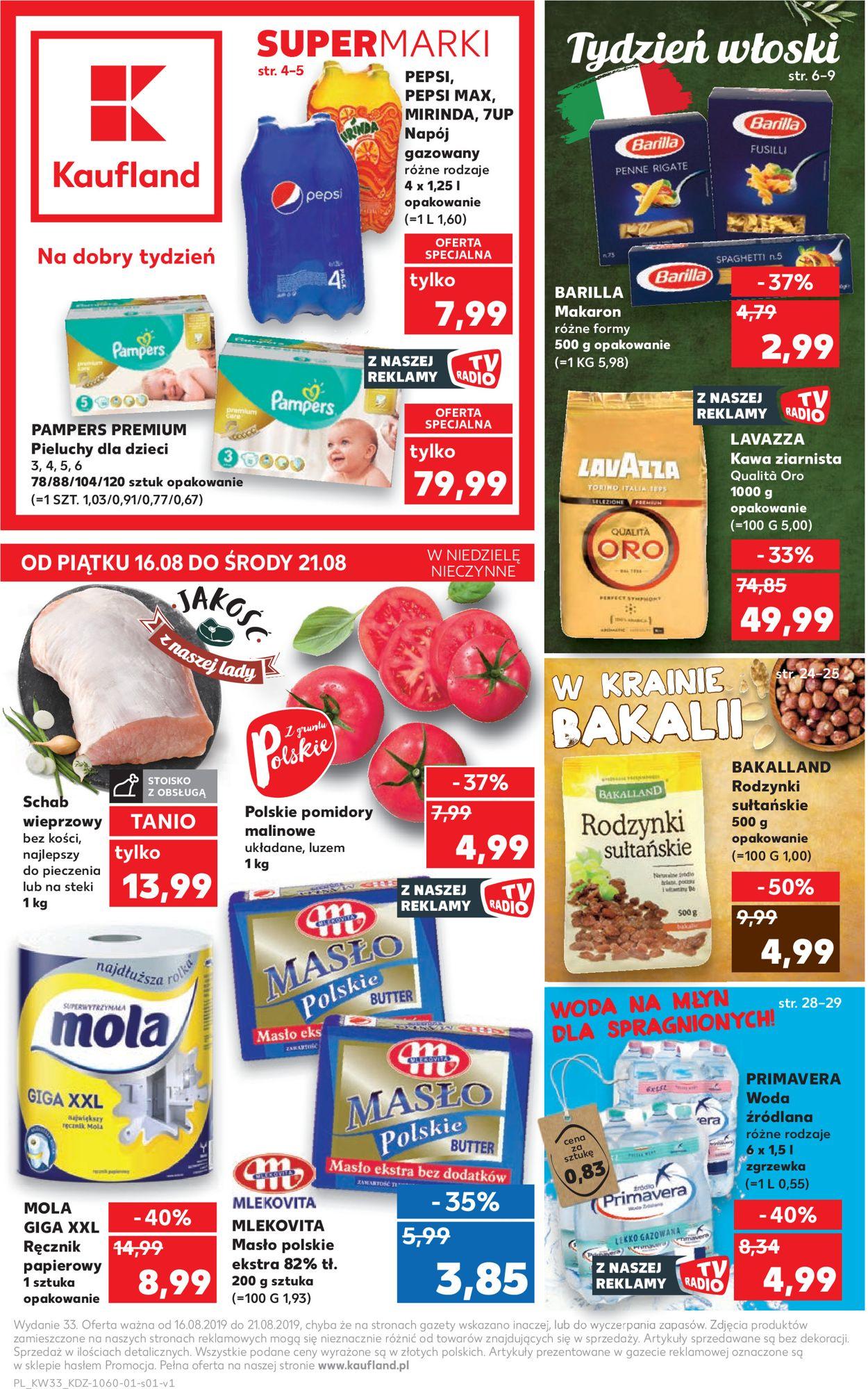 Gazetka promocyjna Kaufland - 16.08-21.08.2019