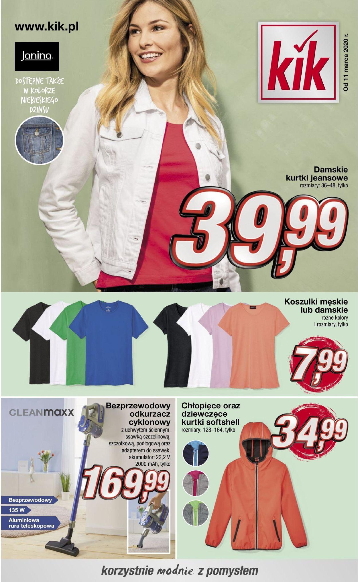 Gazetka promocyjna Kik - 11.03-02.06.2020
