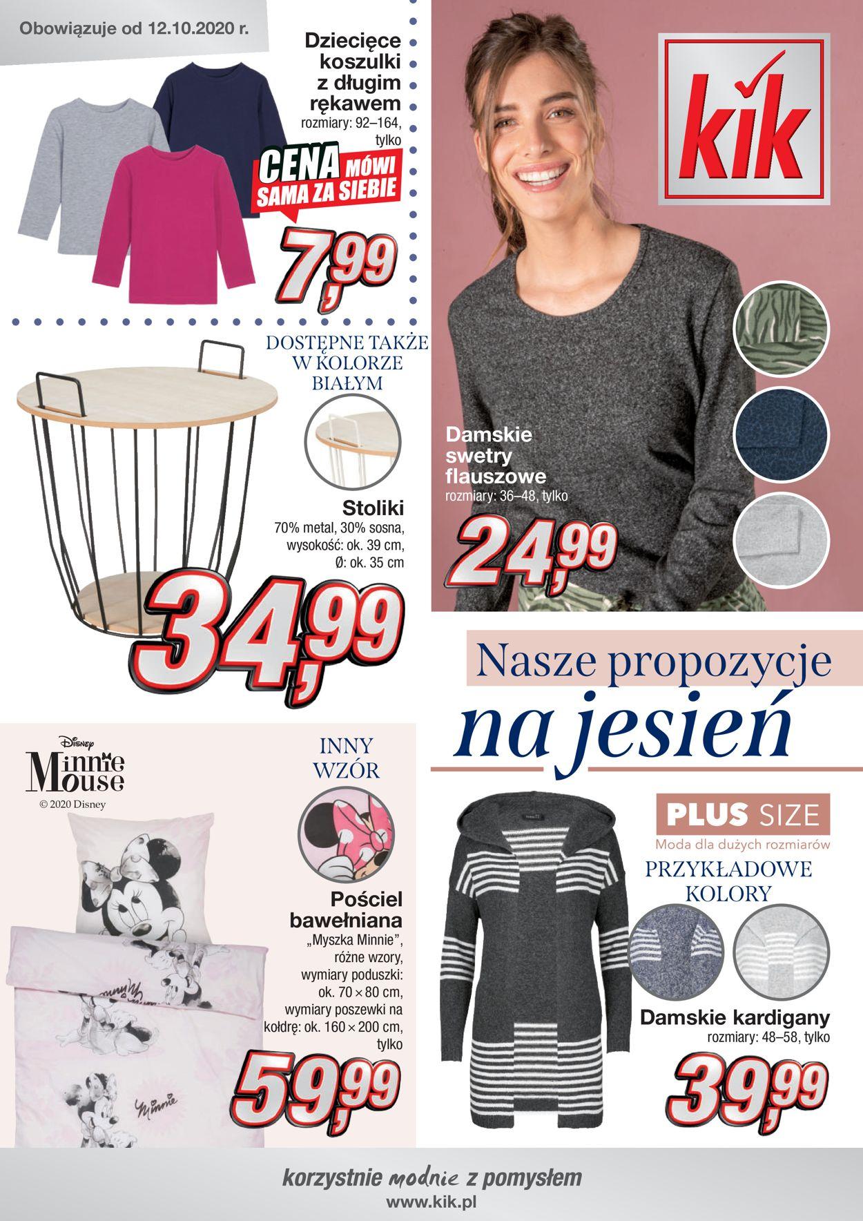 Gazetka promocyjna Kik - 12.10-30.11.2020