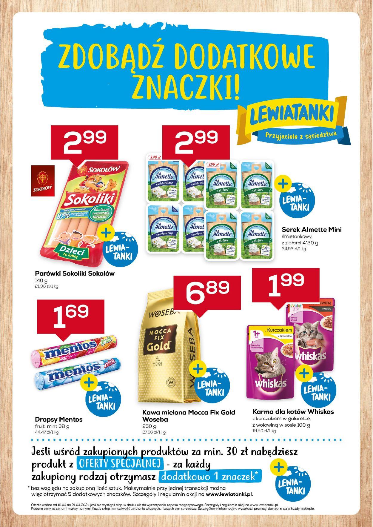 Gazetka promocyjna Lewiatan - Mazowsze - 15.04-21.04.2021