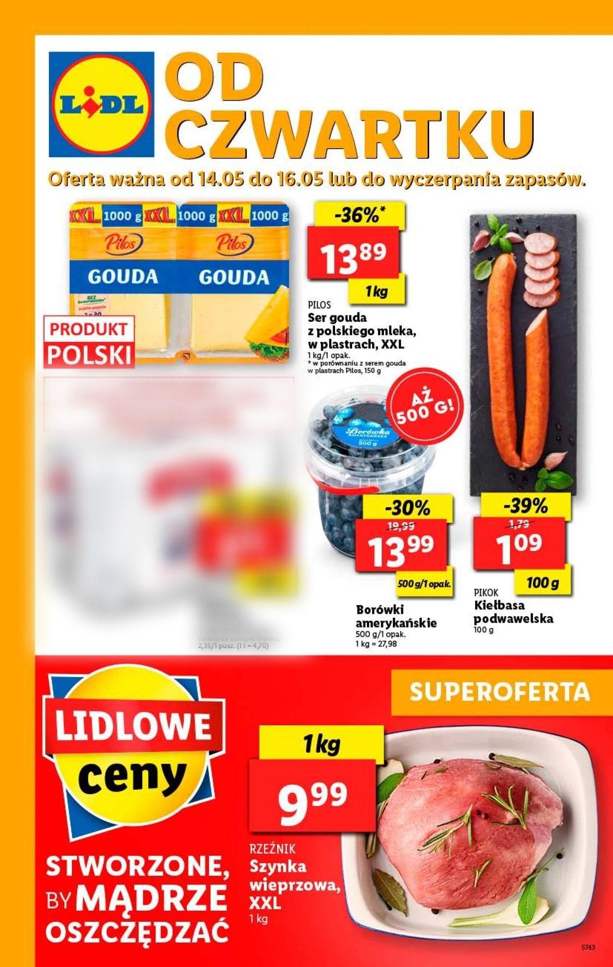 Gazetka promocyjna LIDL - 14.05-16.05.2020
