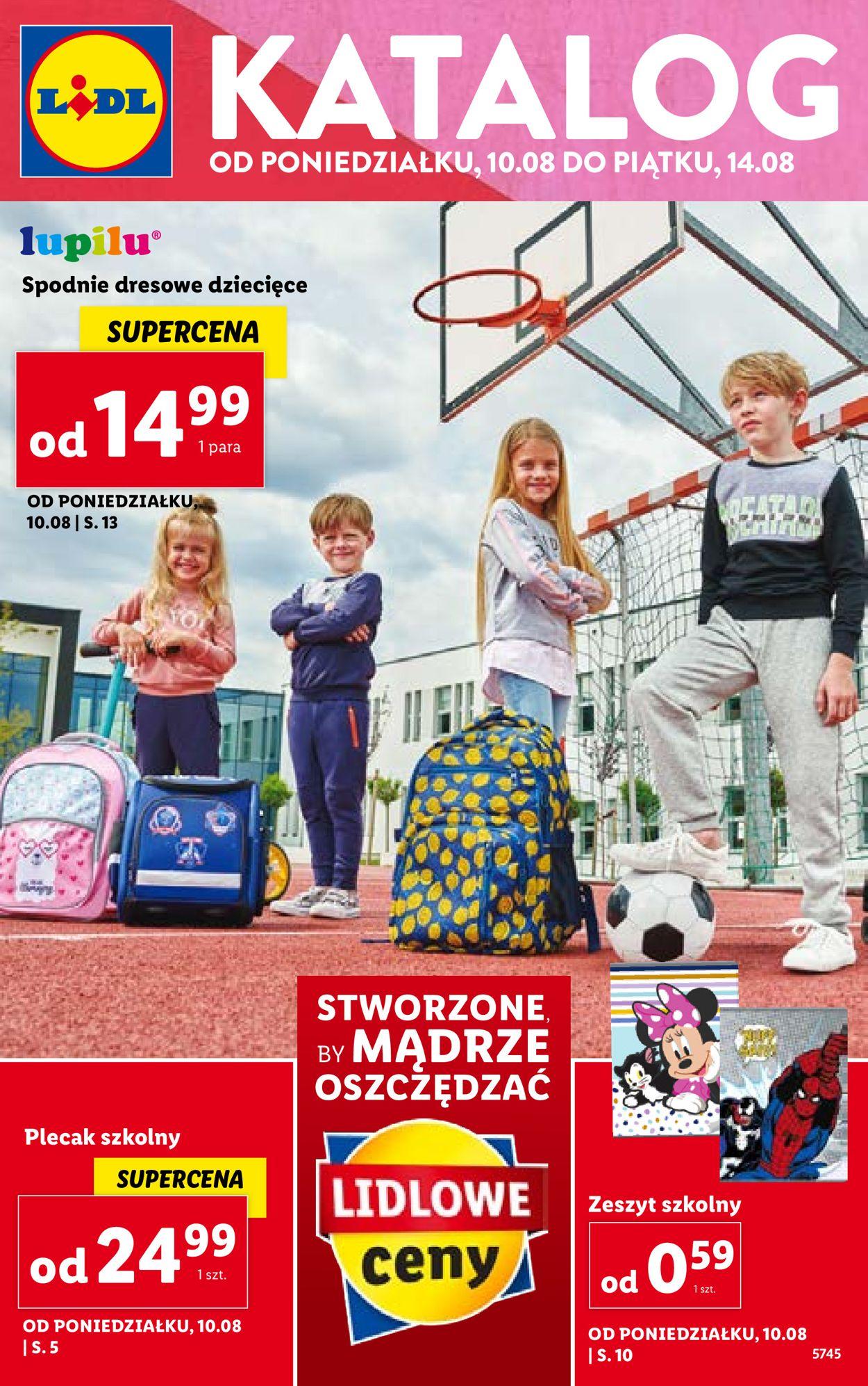 Gazetka promocyjna LIDL - 10.08-14.08.2020
