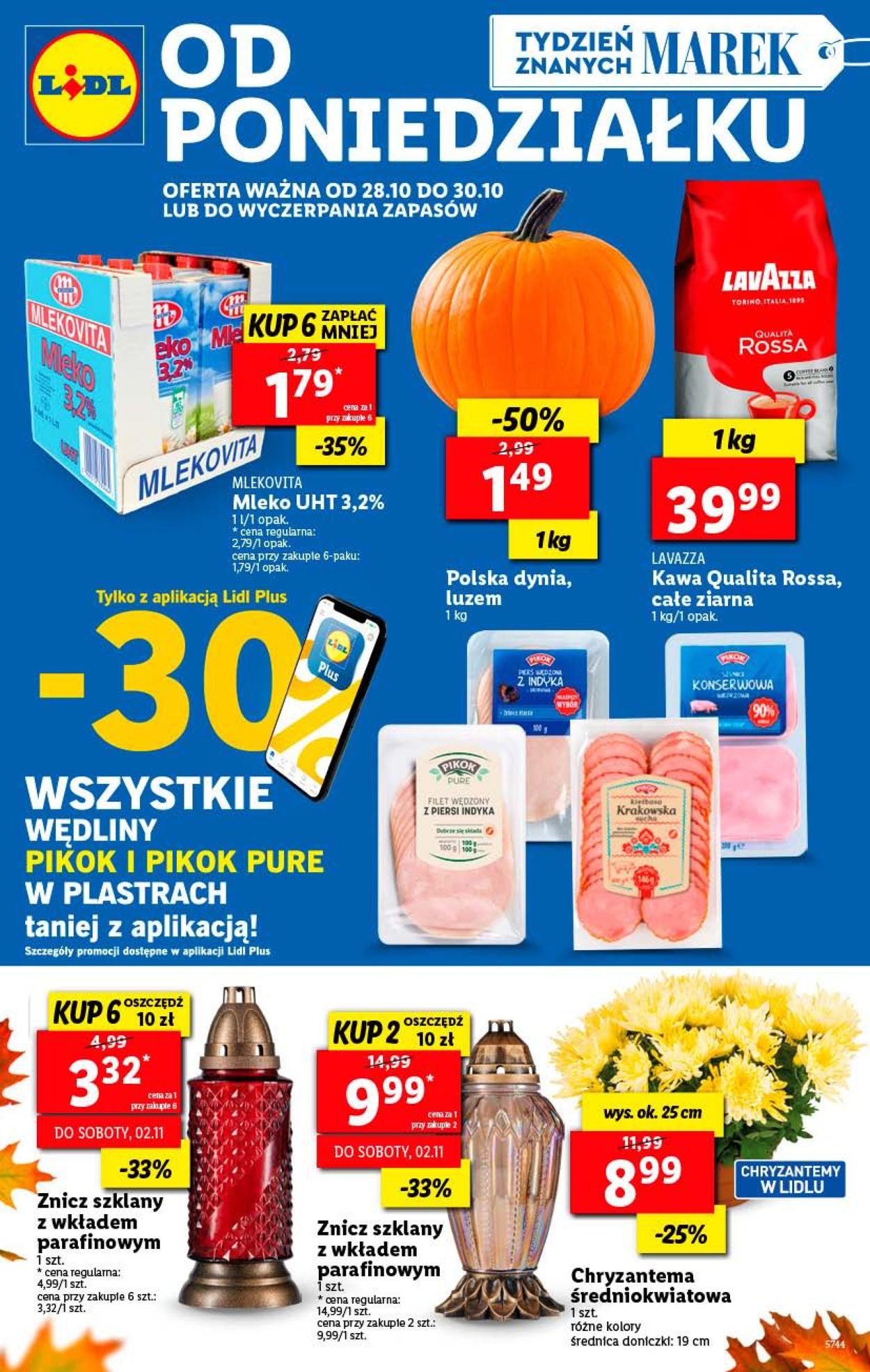 Gazetka promocyjna LIDL - 28.10-30.10.2019