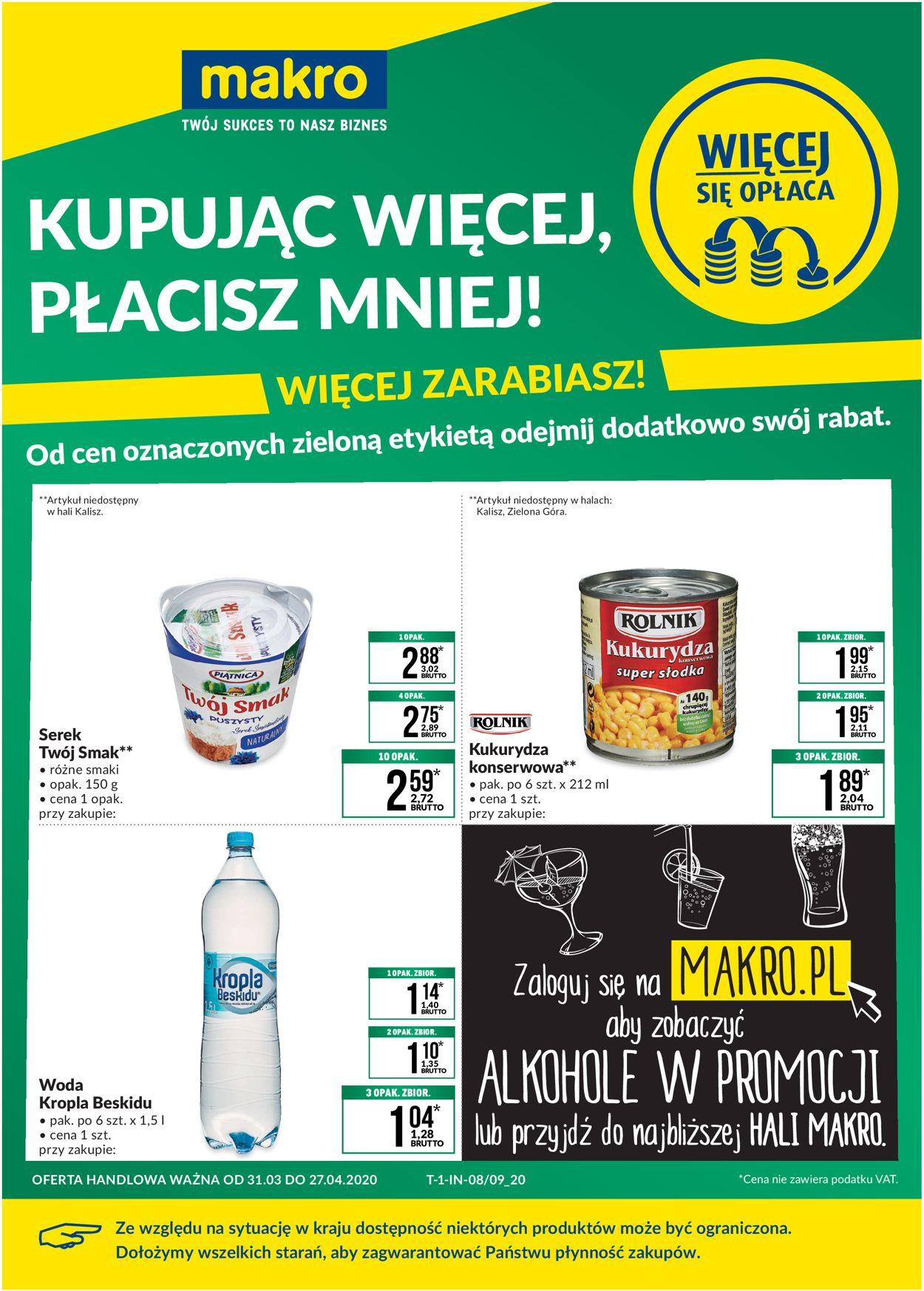 Gazetka promocyjna Makro - 31.03-27.04.2020