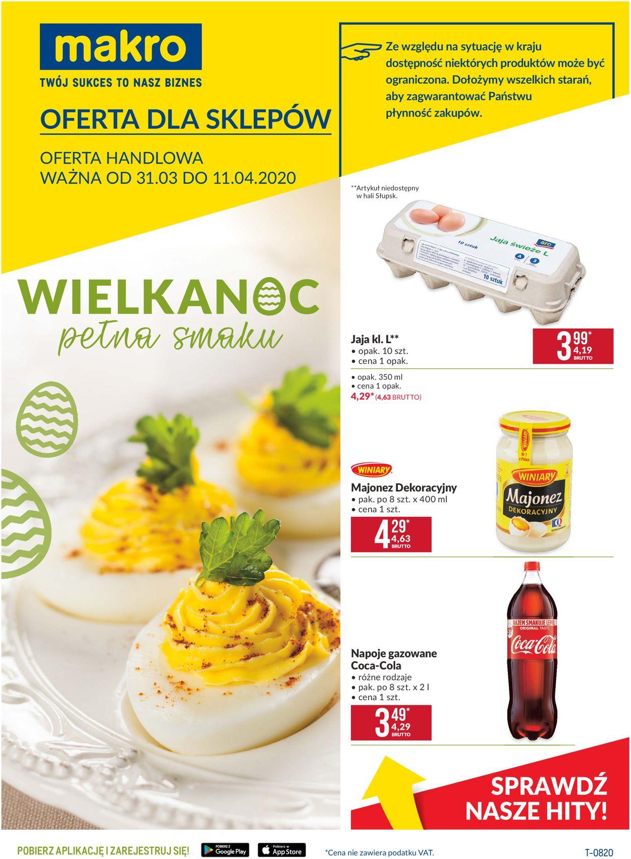Gazetka promocyjna Makro - 31.03-11.04.2020