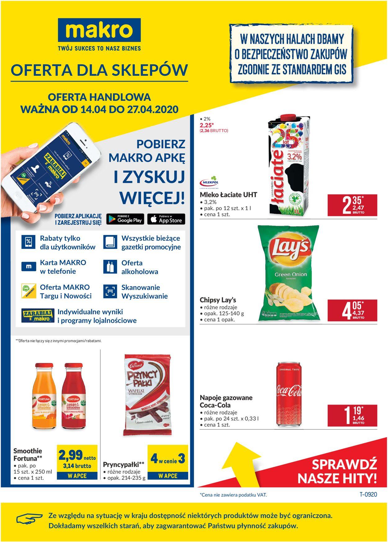 Gazetka promocyjna Makro - 14.04-27.04.2020