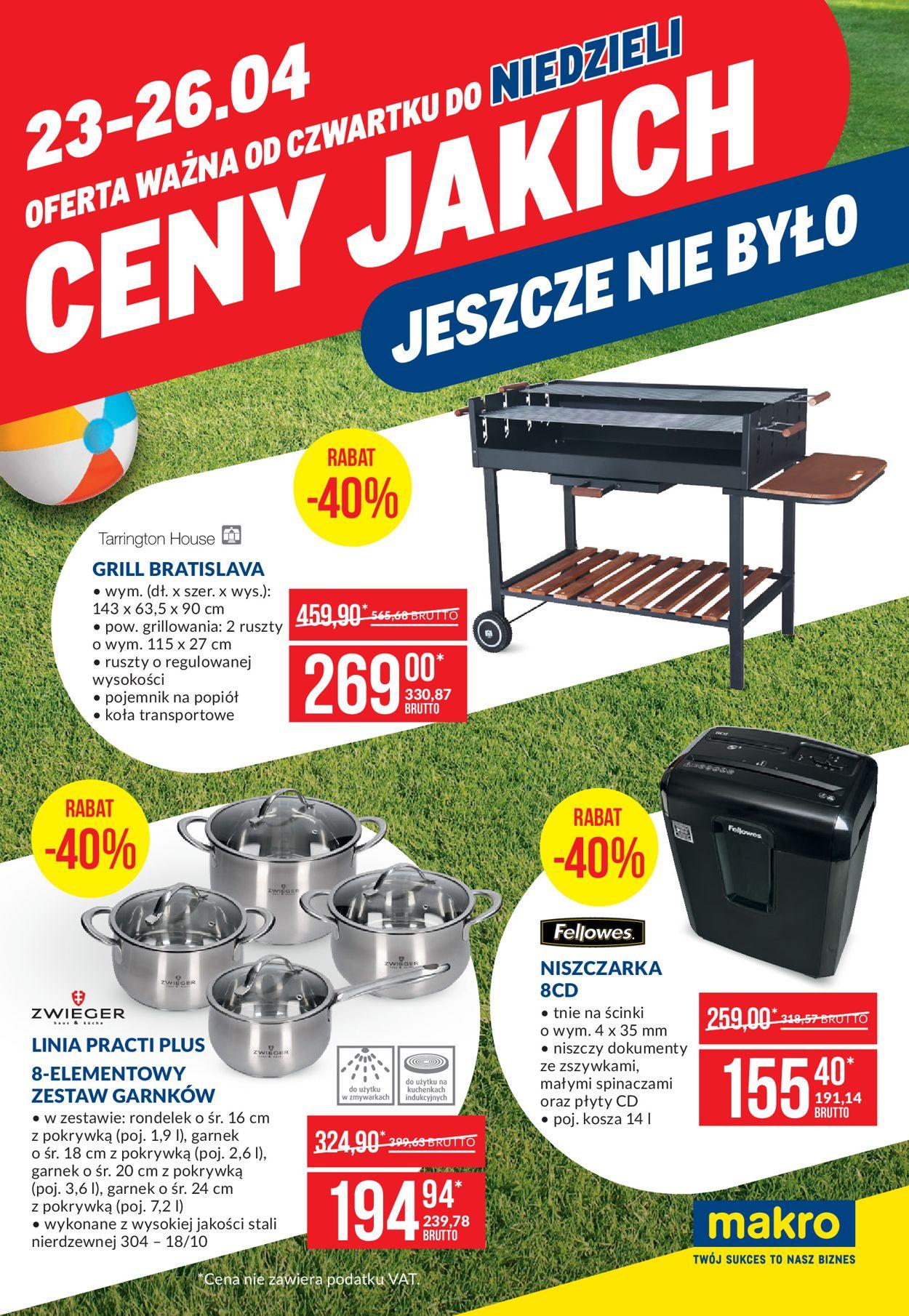 Gazetka promocyjna Makro - 23.04-25.04.2020