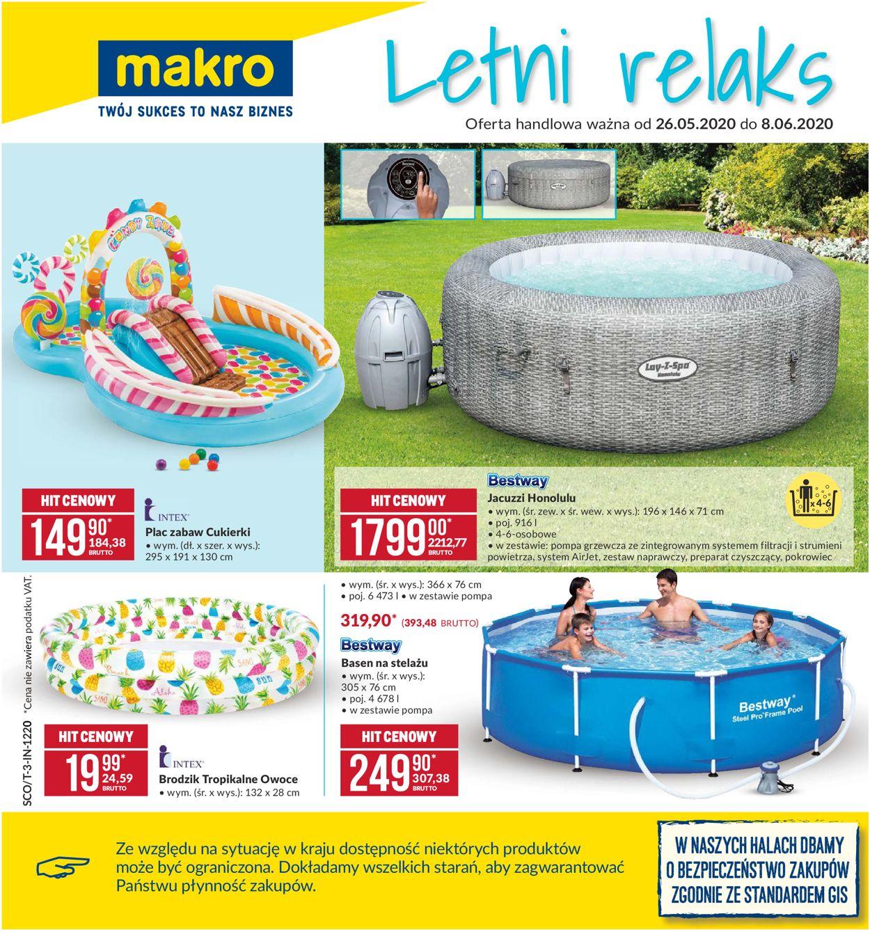 Gazetka promocyjna Makro - 26.05-08.06.2020
