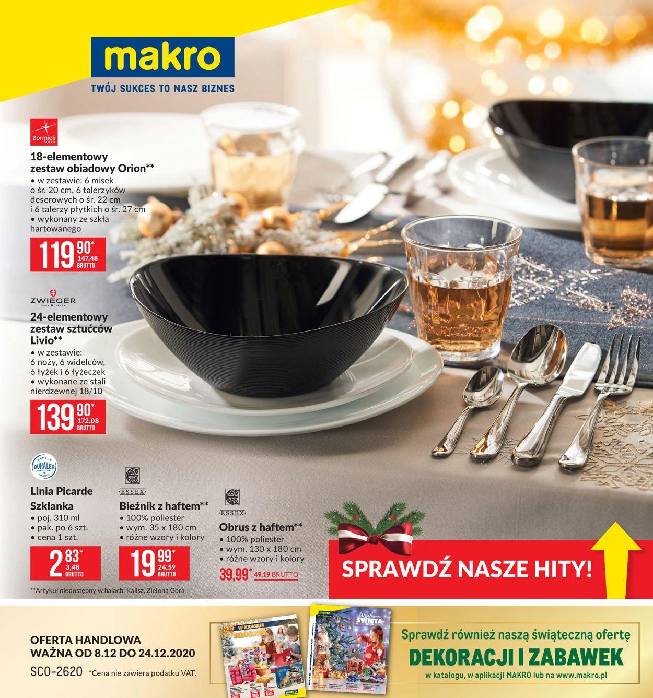 Gazetka promocyjna Makro Gazetka Świąteczna 2020 - 08.12-24.12.2020