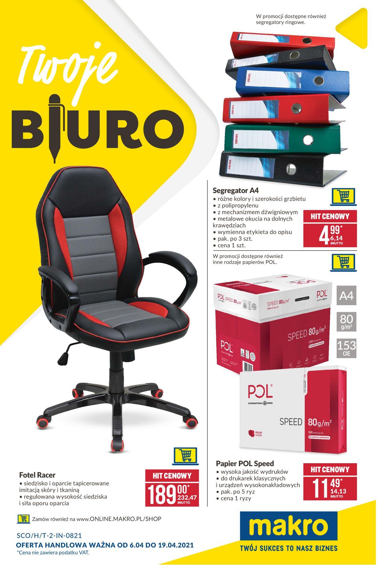 Gazetka promocyjna Makro Twoje Biuro - 06.04-19.04.2021