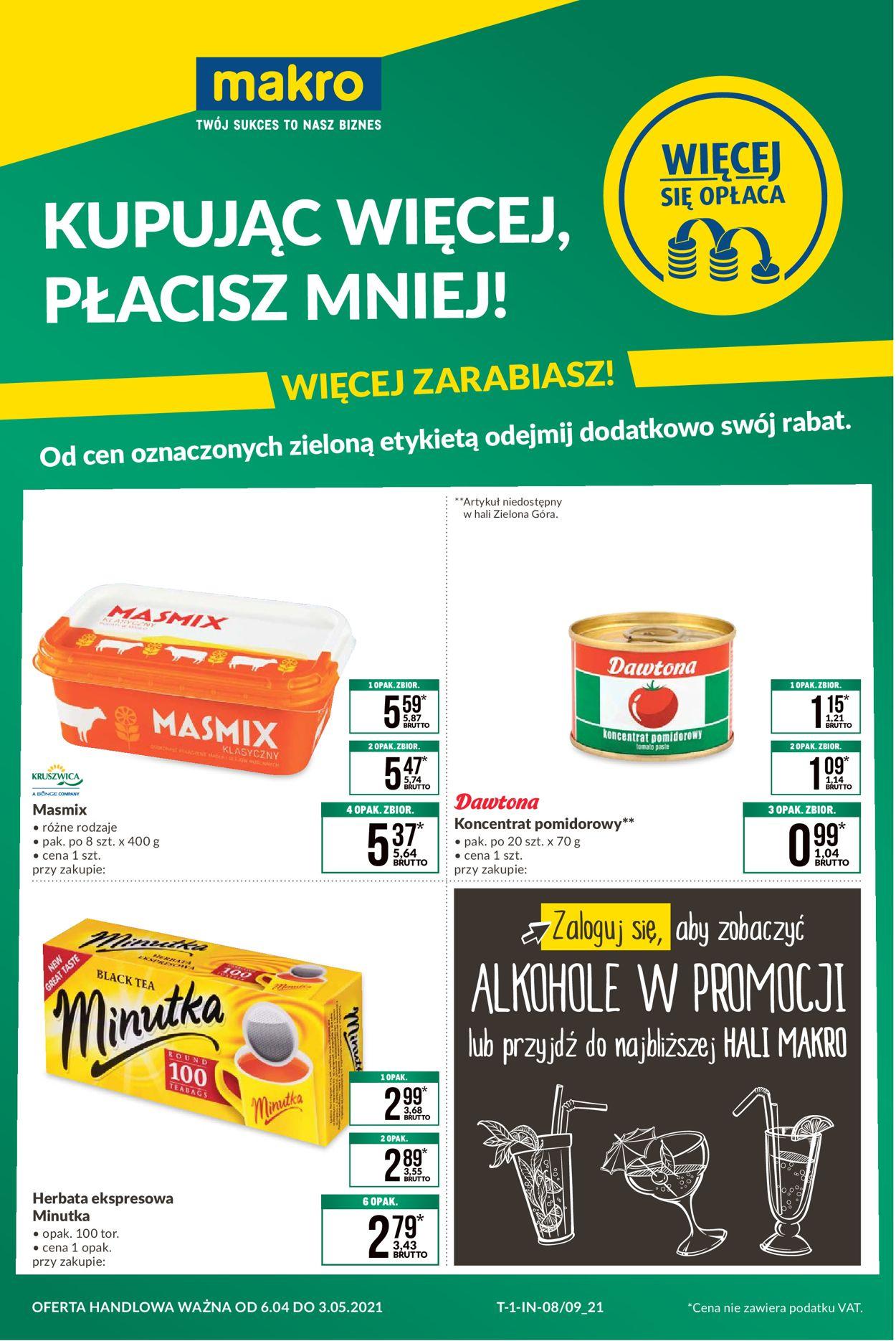 Gazetka promocyjna Makro Kupuj więcej, płać mniej - 06.04-03.05.2021
