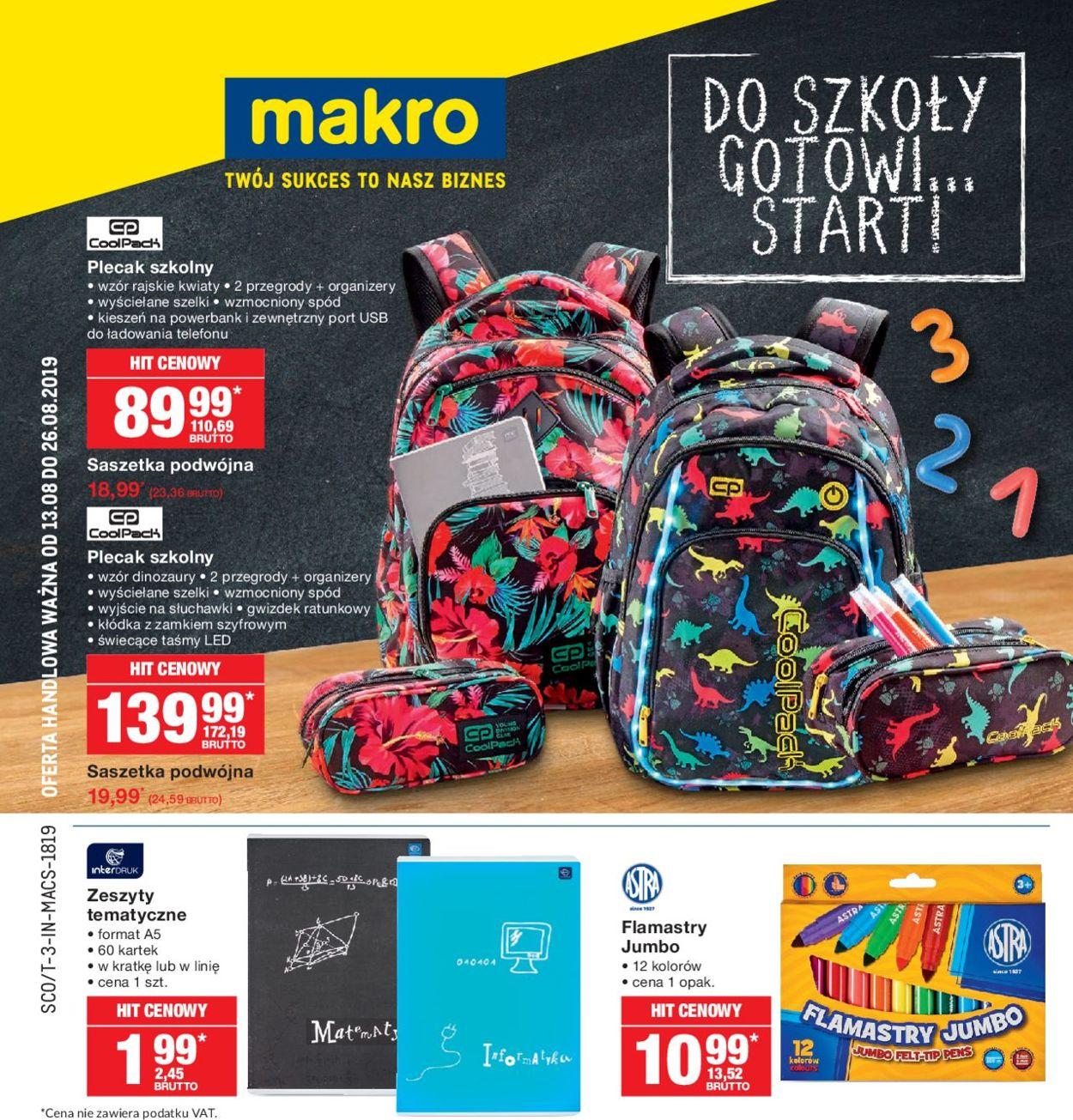 Gazetka promocyjna Makro - 13.08-26.08.2019