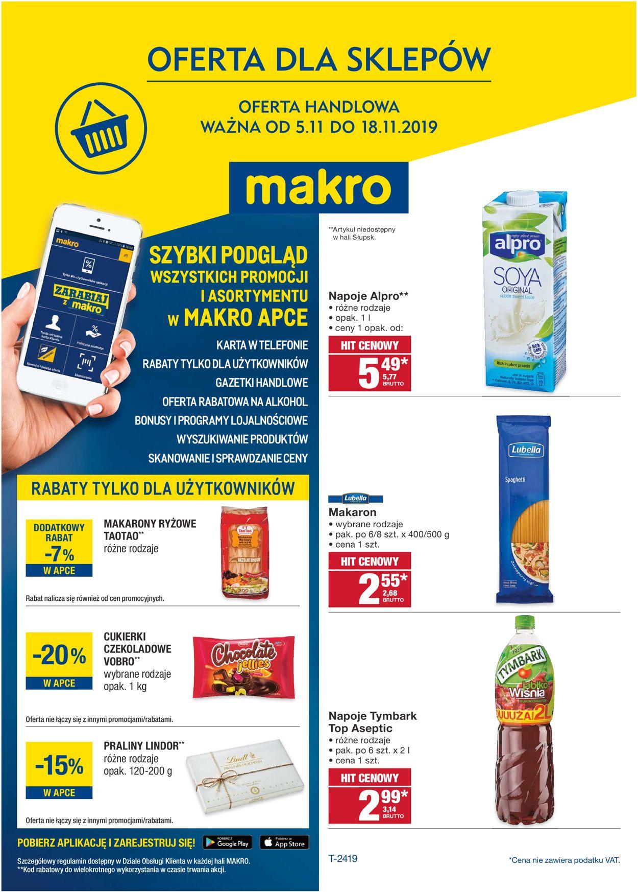 Gazetka promocyjna Makro - 05.11-18.11.2019