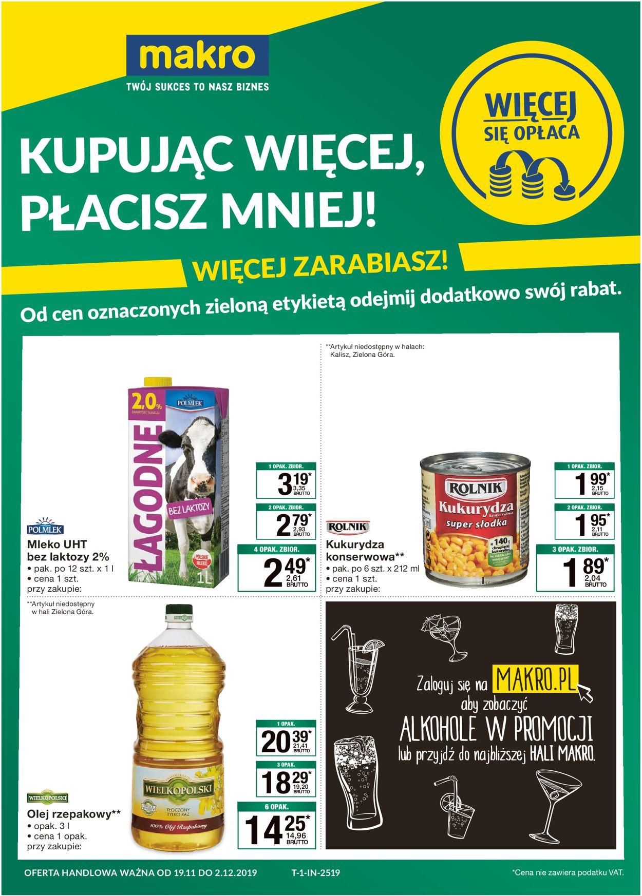 Gazetka promocyjna Makro - 19.11-02.12.2019