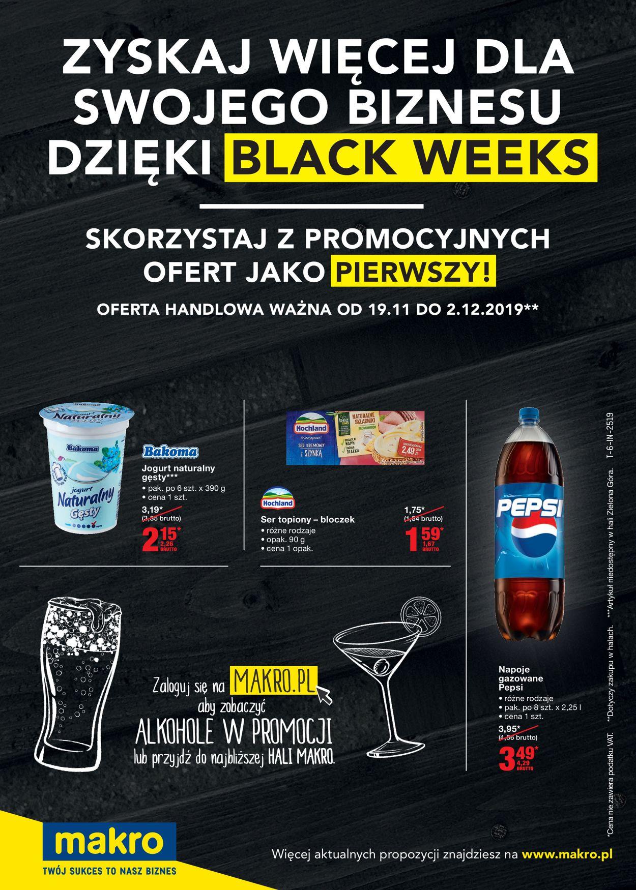 Gazetka promocyjna Makro - Black Weeks 2019 - 19.11-02.12.2019