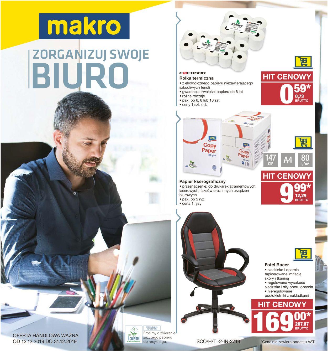 Gazetka promocyjna Makro - 12.12-31.12.2019