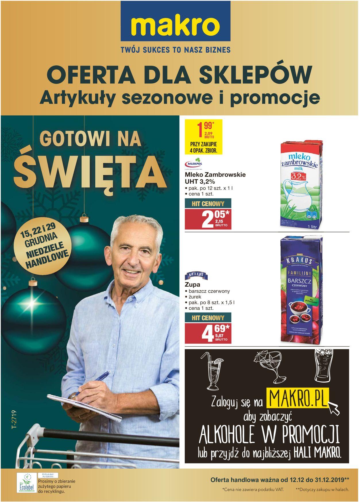 Gazetka promocyjna Makro - Gazetka Świąteczna 2019 - 12.12-31.12.2019