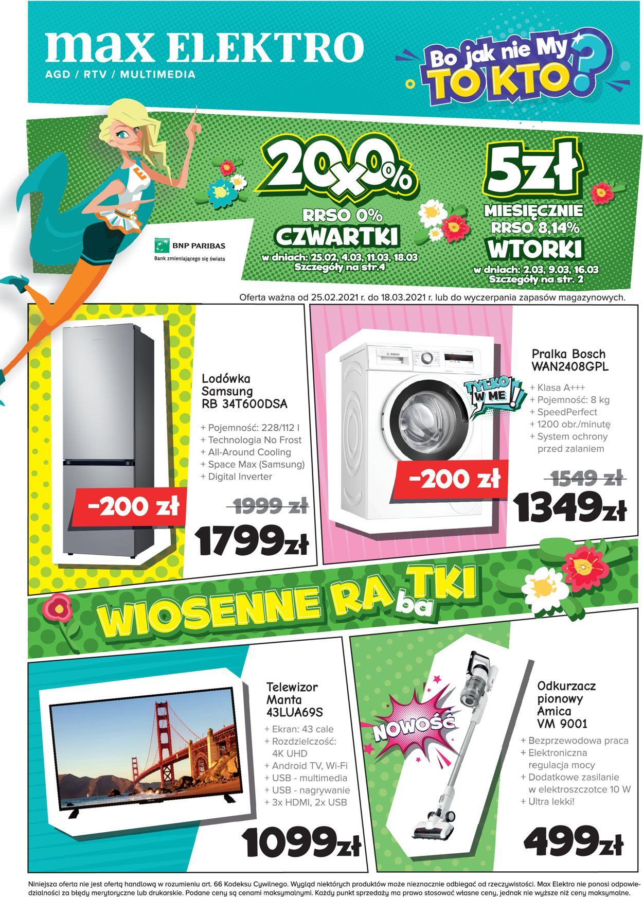 Gazetka promocyjna max elektro - 25.02-18.03.2021