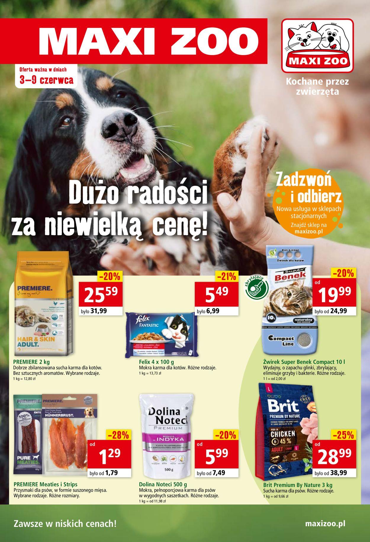 Gazetka promocyjna Maxi Zoo - 03.06-09.06.2020