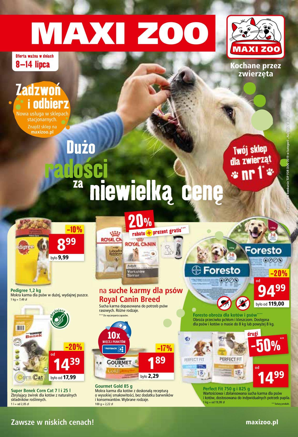 Gazetka promocyjna Maxi Zoo - 08.07-14.07.2020
