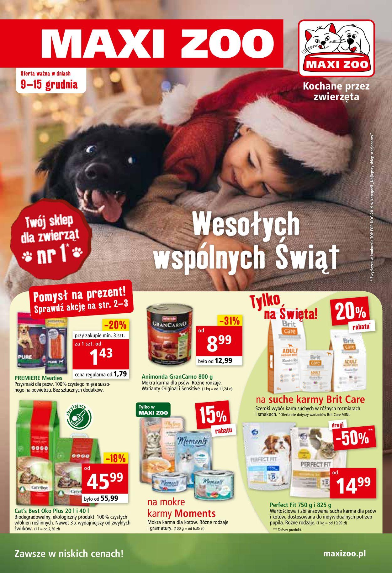 Gazetka promocyjna Maxi Zoo Gazetka Świąteczna 2020 - 09.12-15.12.2020