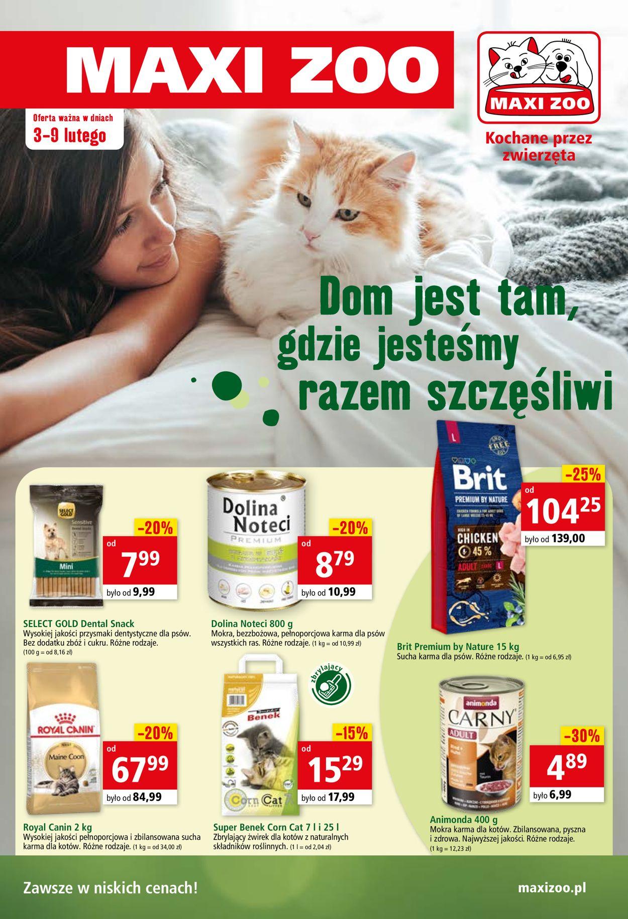Gazetka promocyjna Maxi Zoo - 03.02-09.02.2021