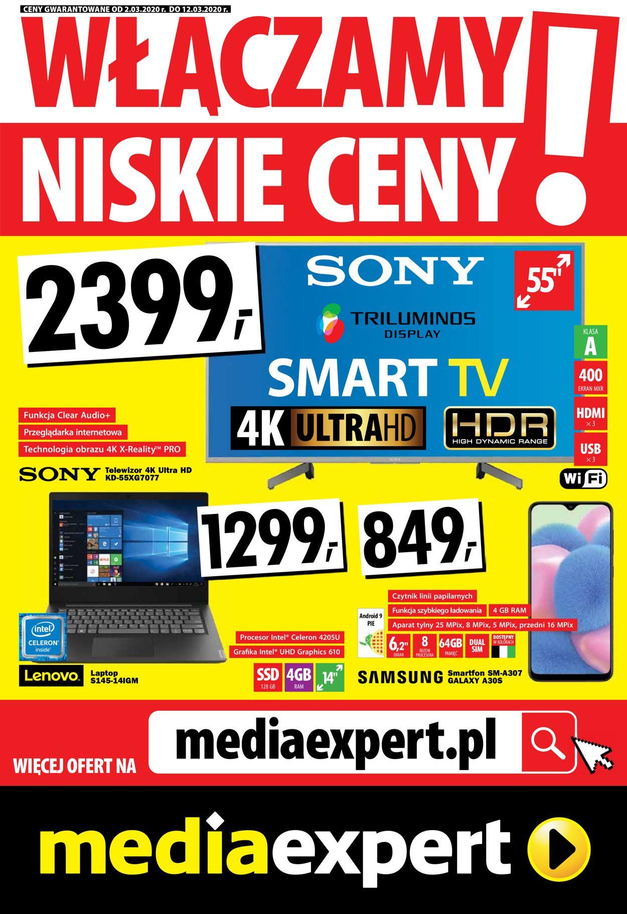 Gazetka promocyjna Media Expert - 02.03-12.03.2020