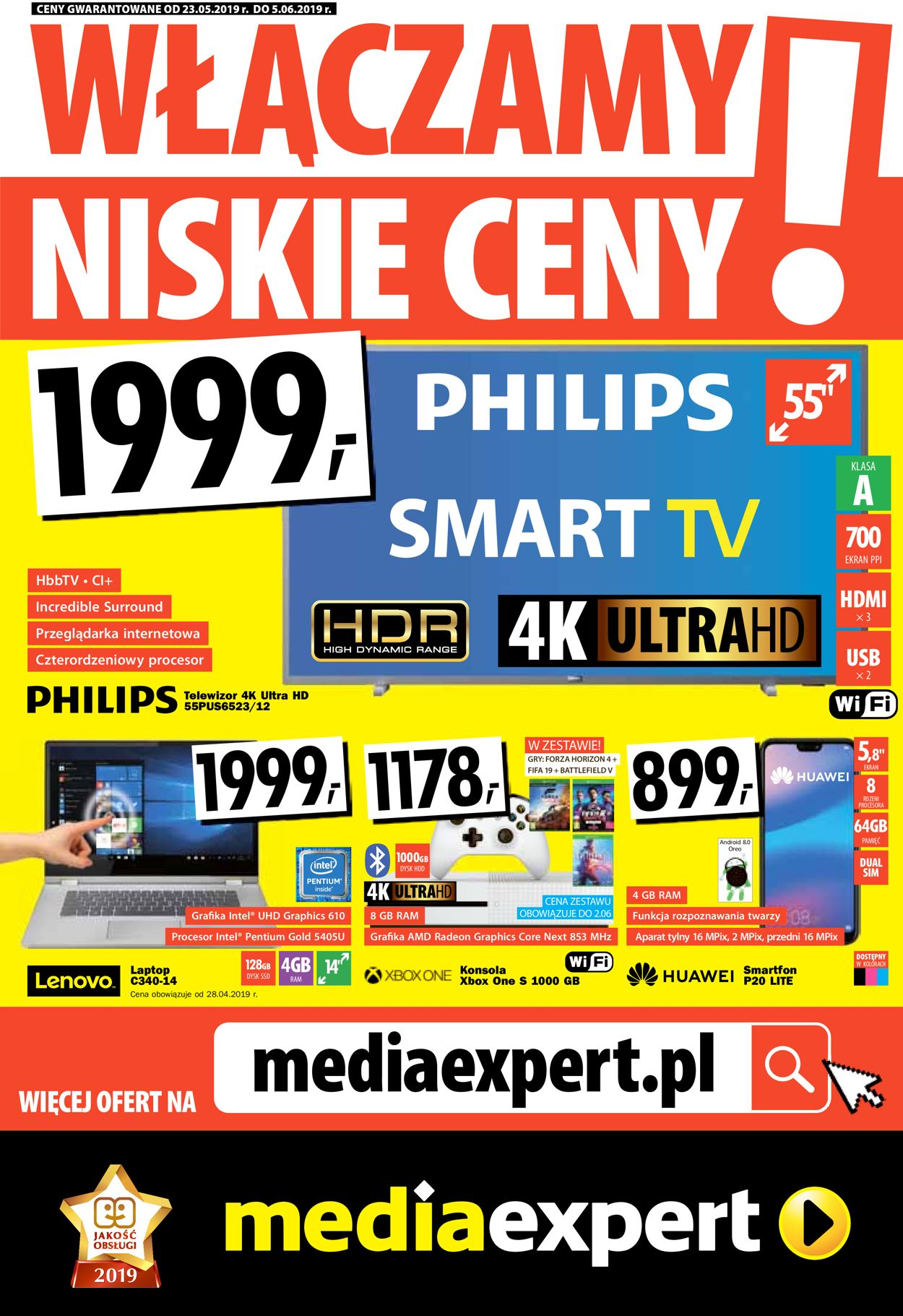 Gazetka promocyjna Media Expert - 23.05-05.06.2019