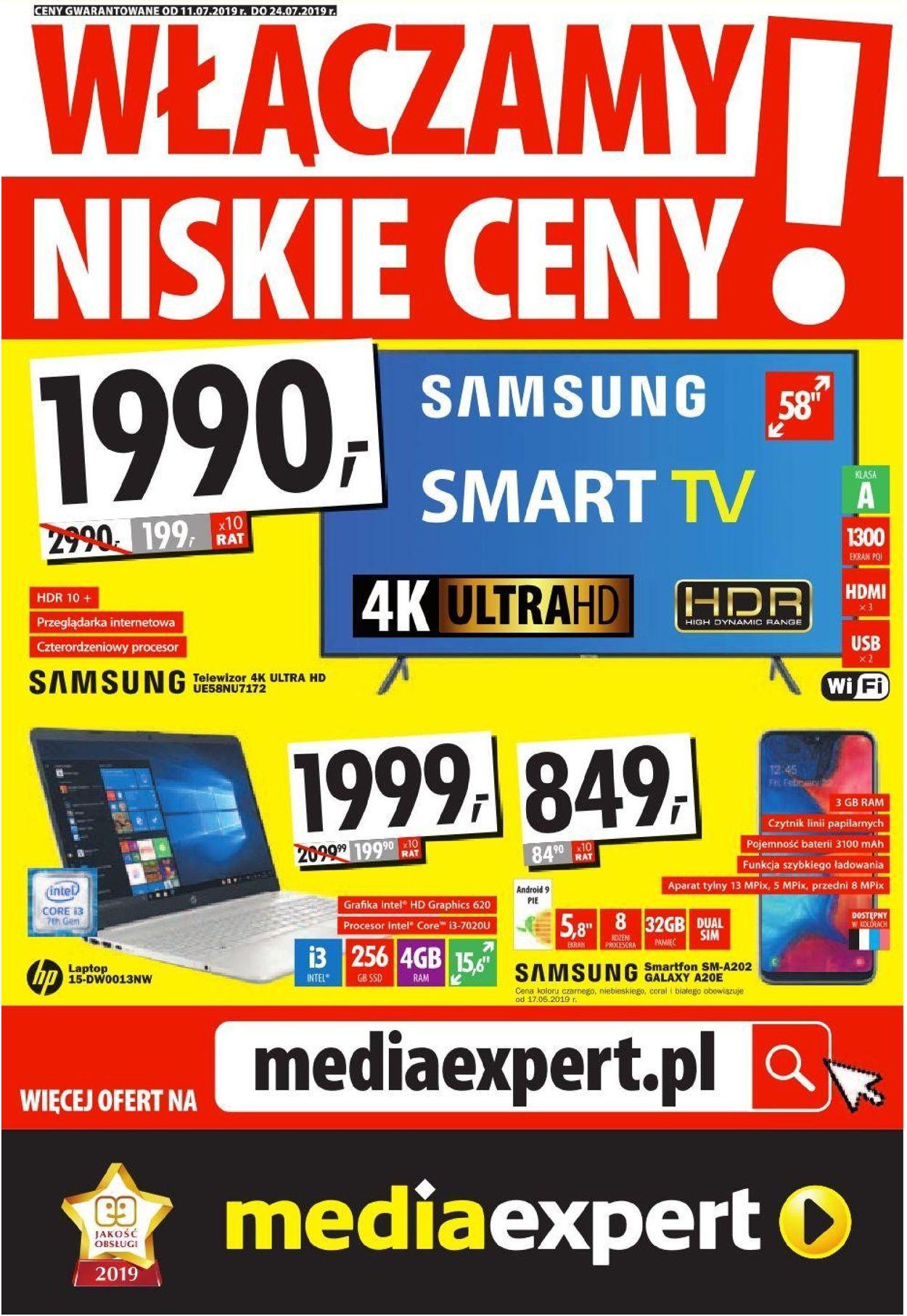 Gazetka promocyjna Media Expert - 11.07-24.07.2019