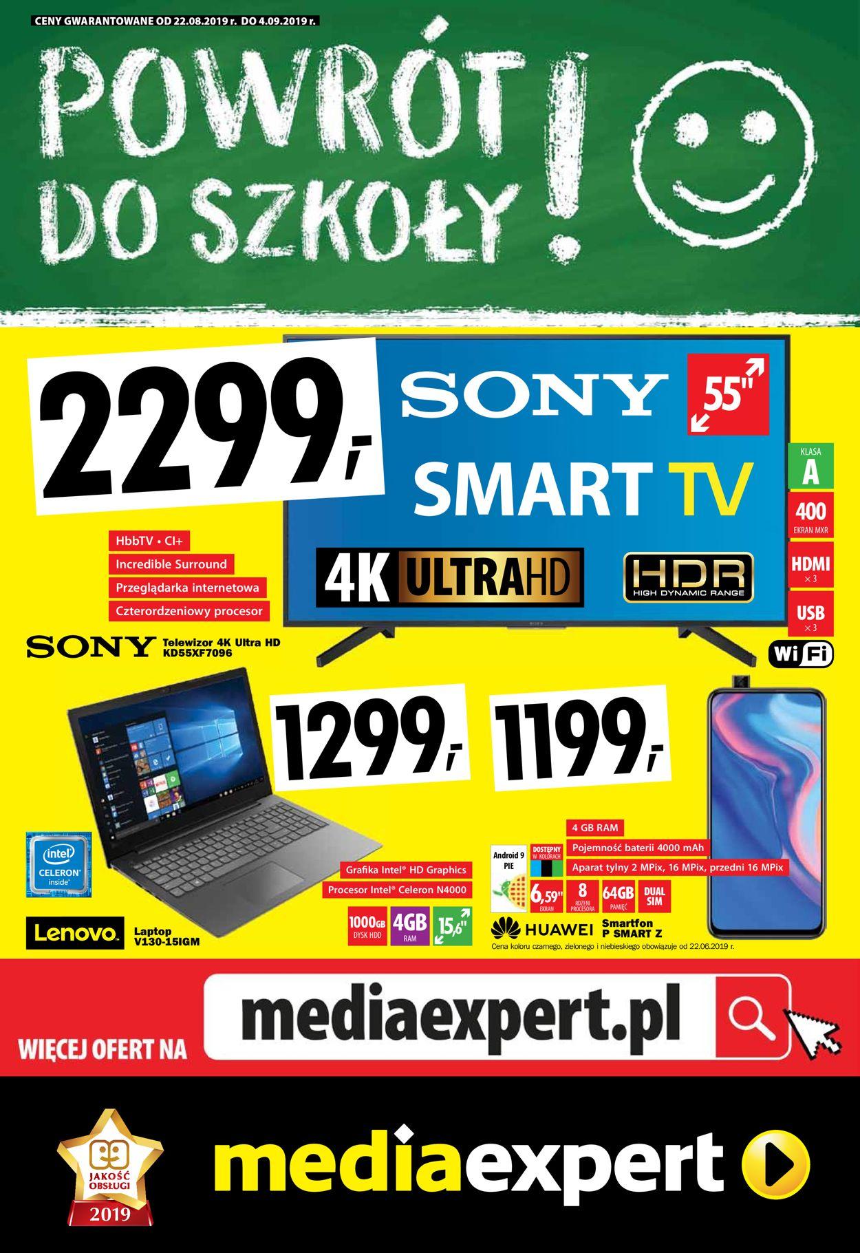 Gazetka promocyjna Media Expert - 22.08-04.09.2019
