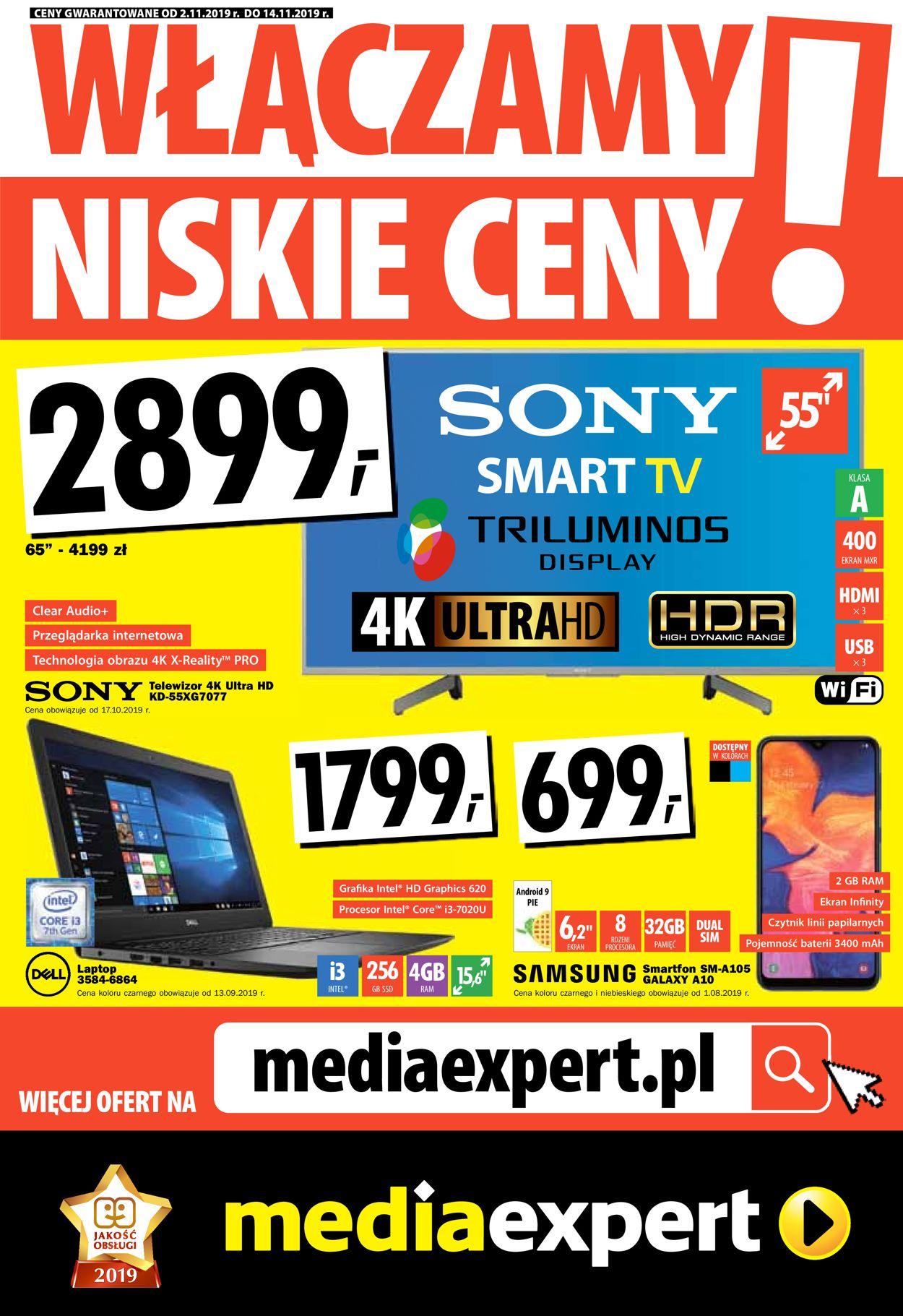 Gazetka promocyjna Media Expert - 02.11-14.11.2019