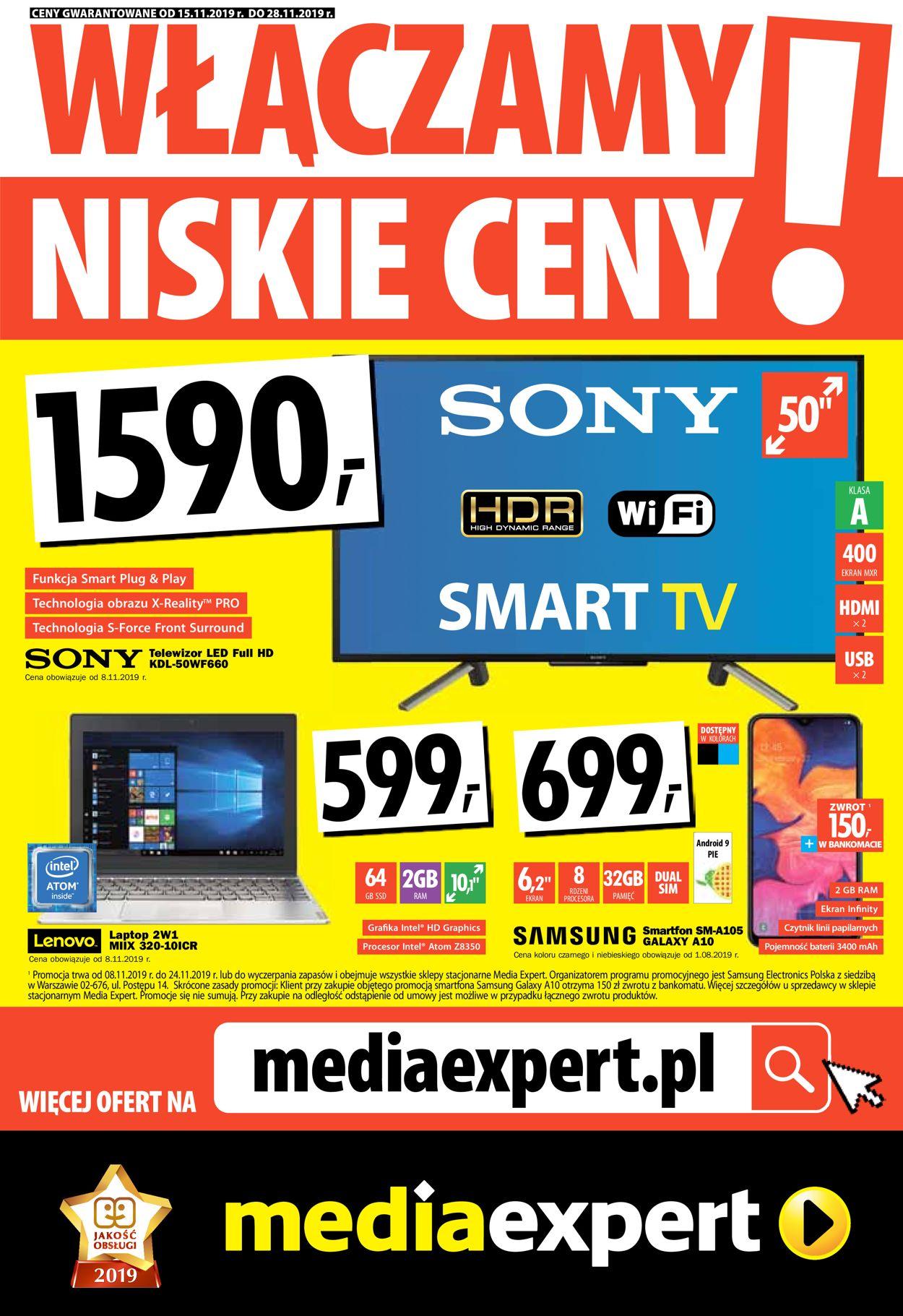 Gazetka promocyjna Media Expert - 15.11-28.11.2019
