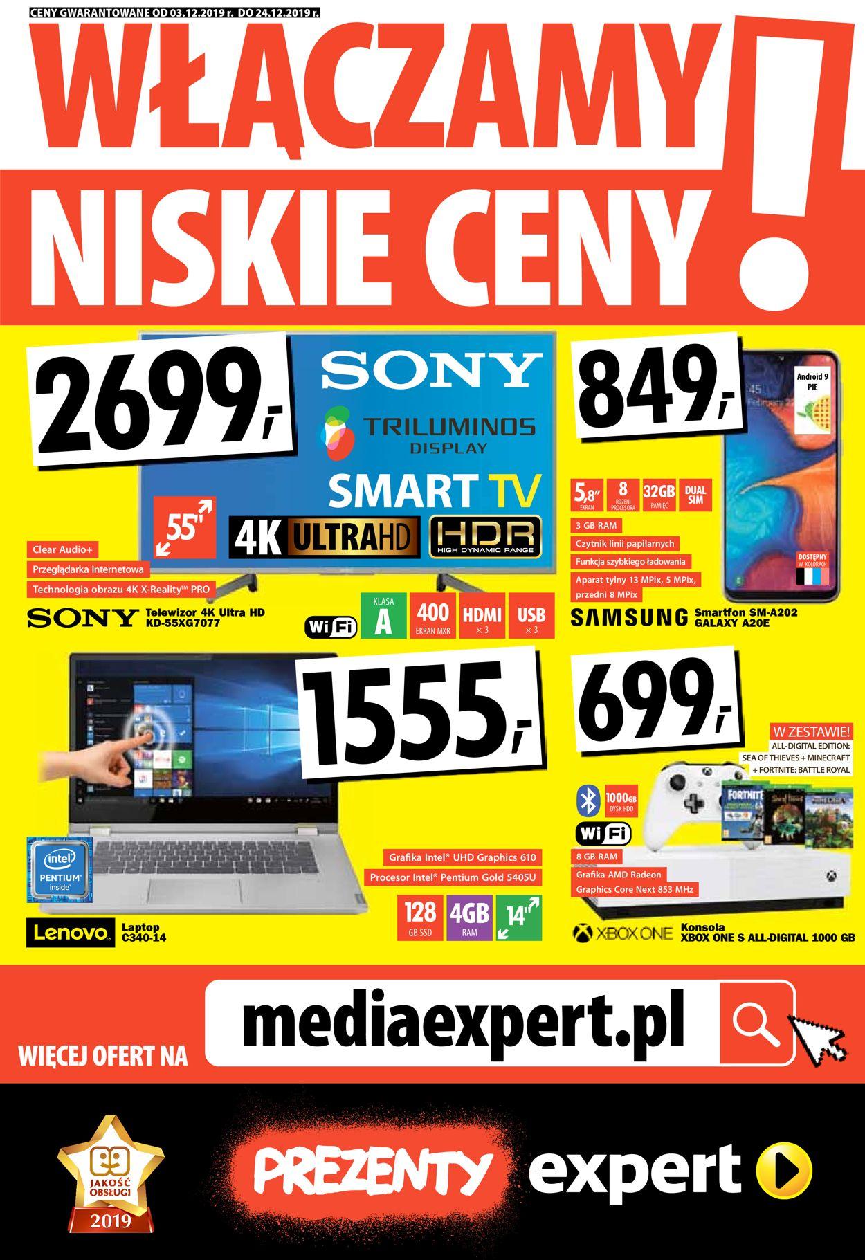Gazetka promocyjna Media Expert - 03.12-24.12.2019