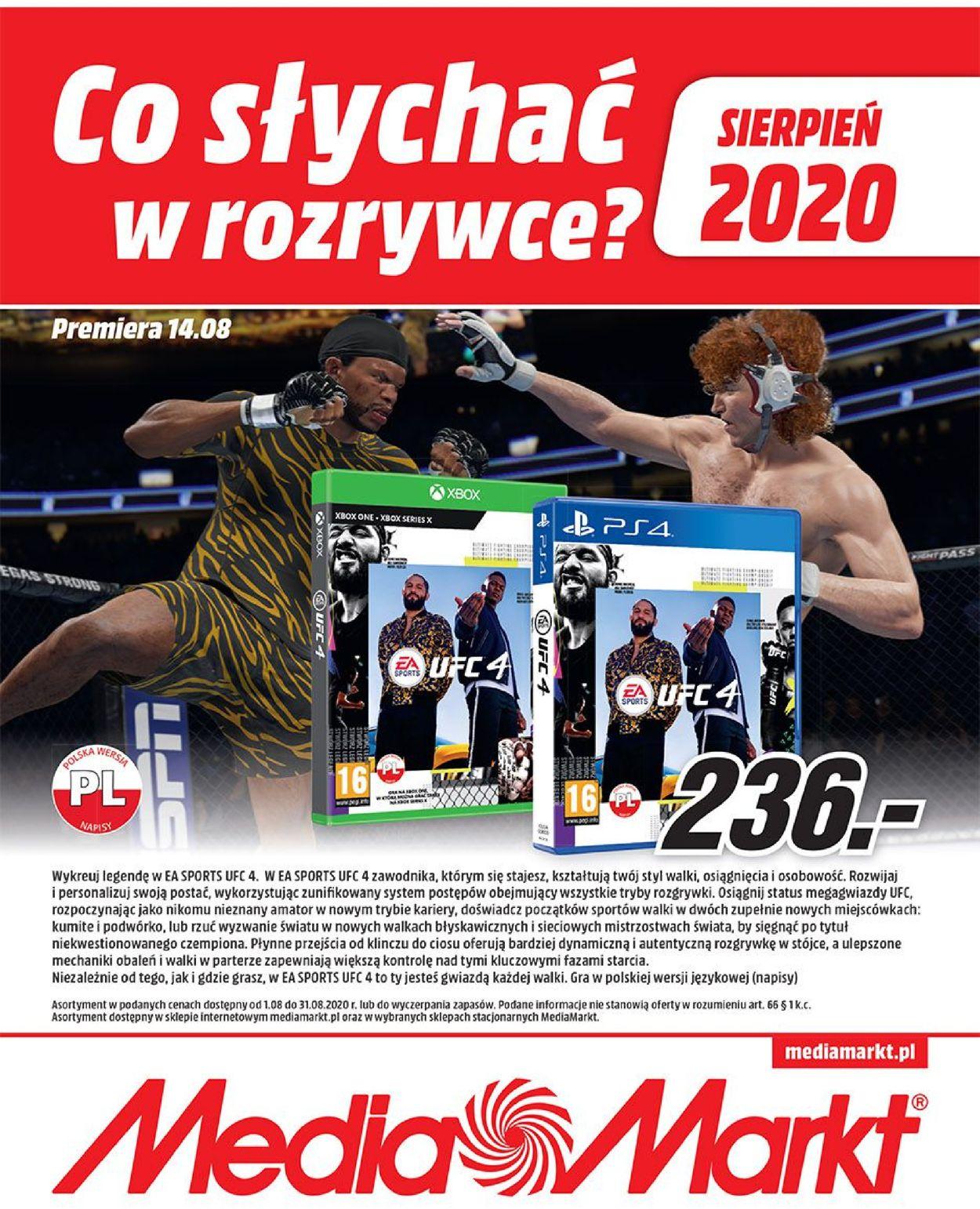 Gazetka promocyjna Media Markt - 01.08-31.08.2020