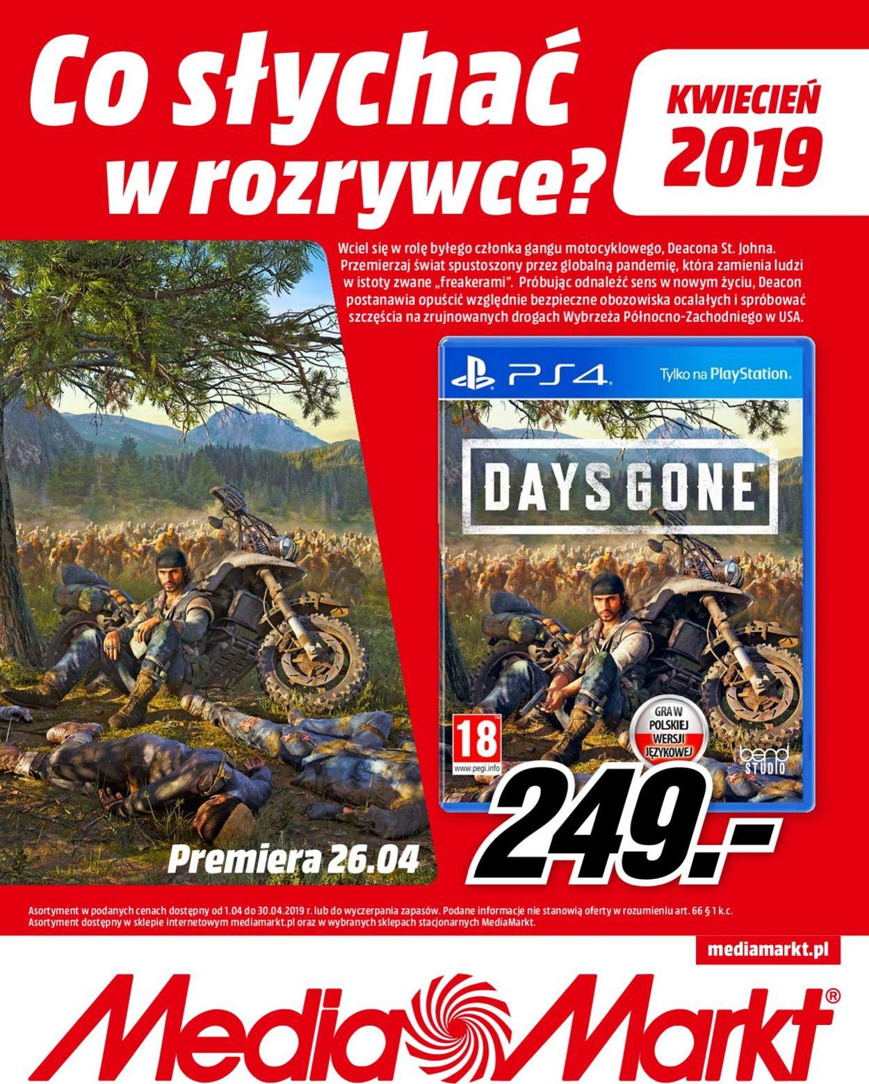 Gazetka promocyjna Media Markt - 01.04-30.04.2019
