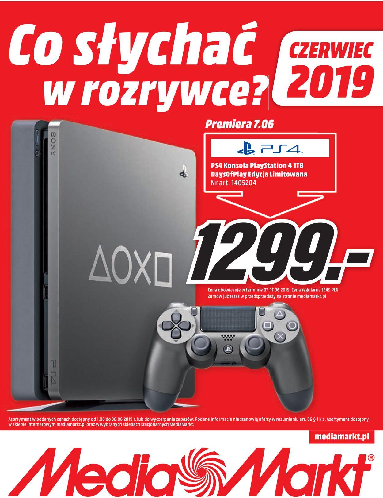 Gazetka promocyjna Media Markt - 01.06-30.06.2019