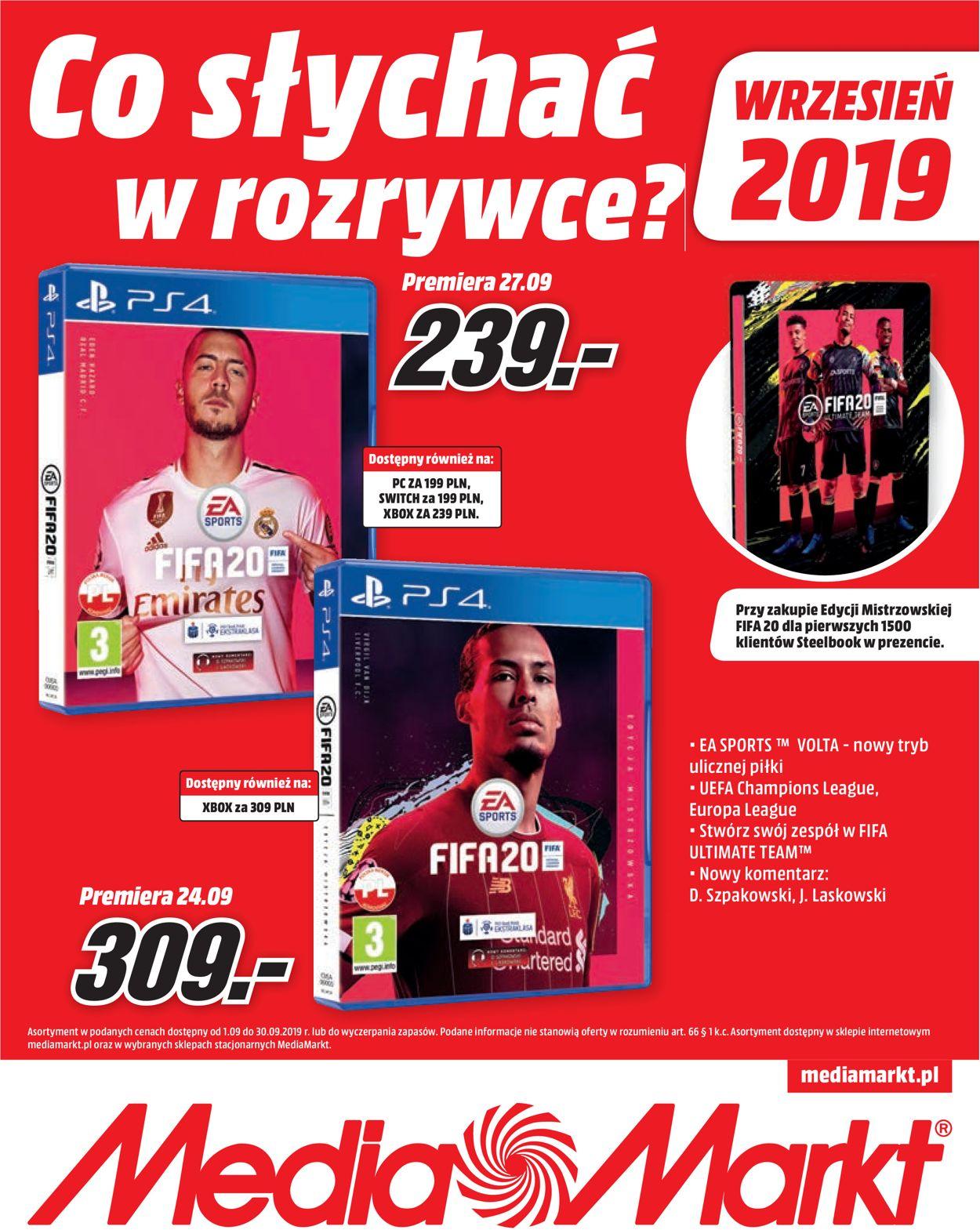 Gazetka promocyjna Media Markt - 01.09-01.10.2019