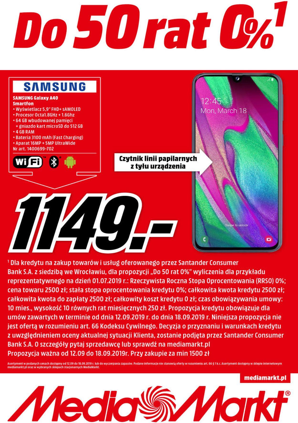 Gazetka promocyjna Media Markt - 12.09-18.09.2019