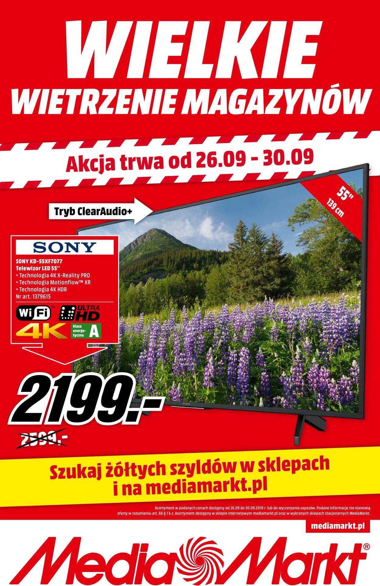 Gazetka promocyjna Media Markt - 26.09-30.09.2019