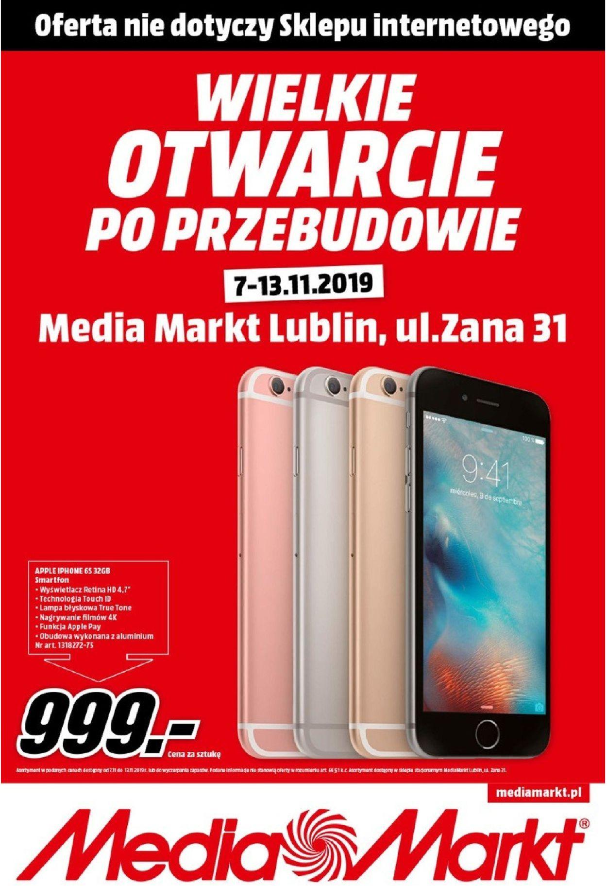 Gazetka promocyjna Media Markt - 07.11-13.11.2019