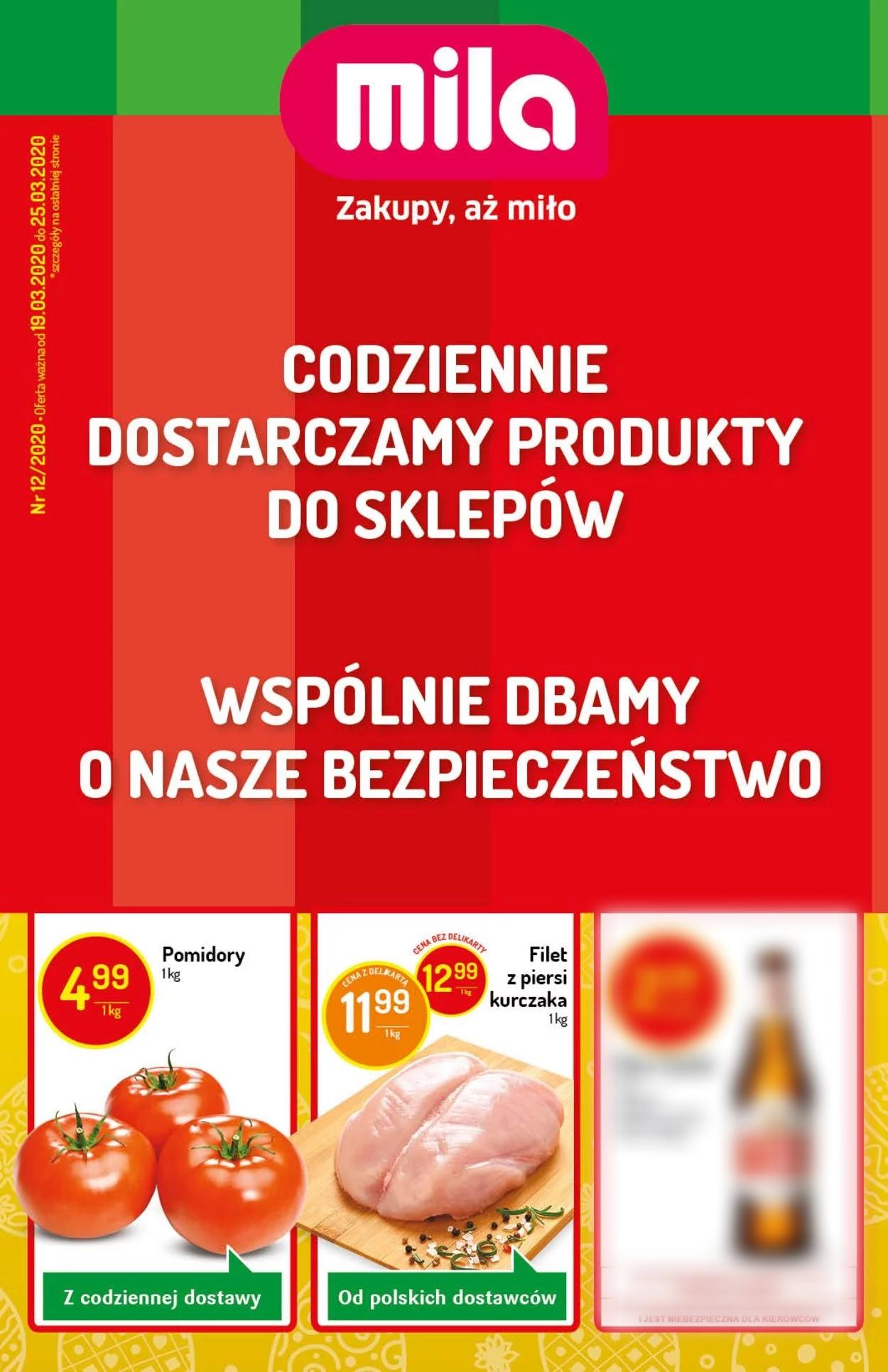 Gazetka promocyjna Mila - 19.03-25.03.2020