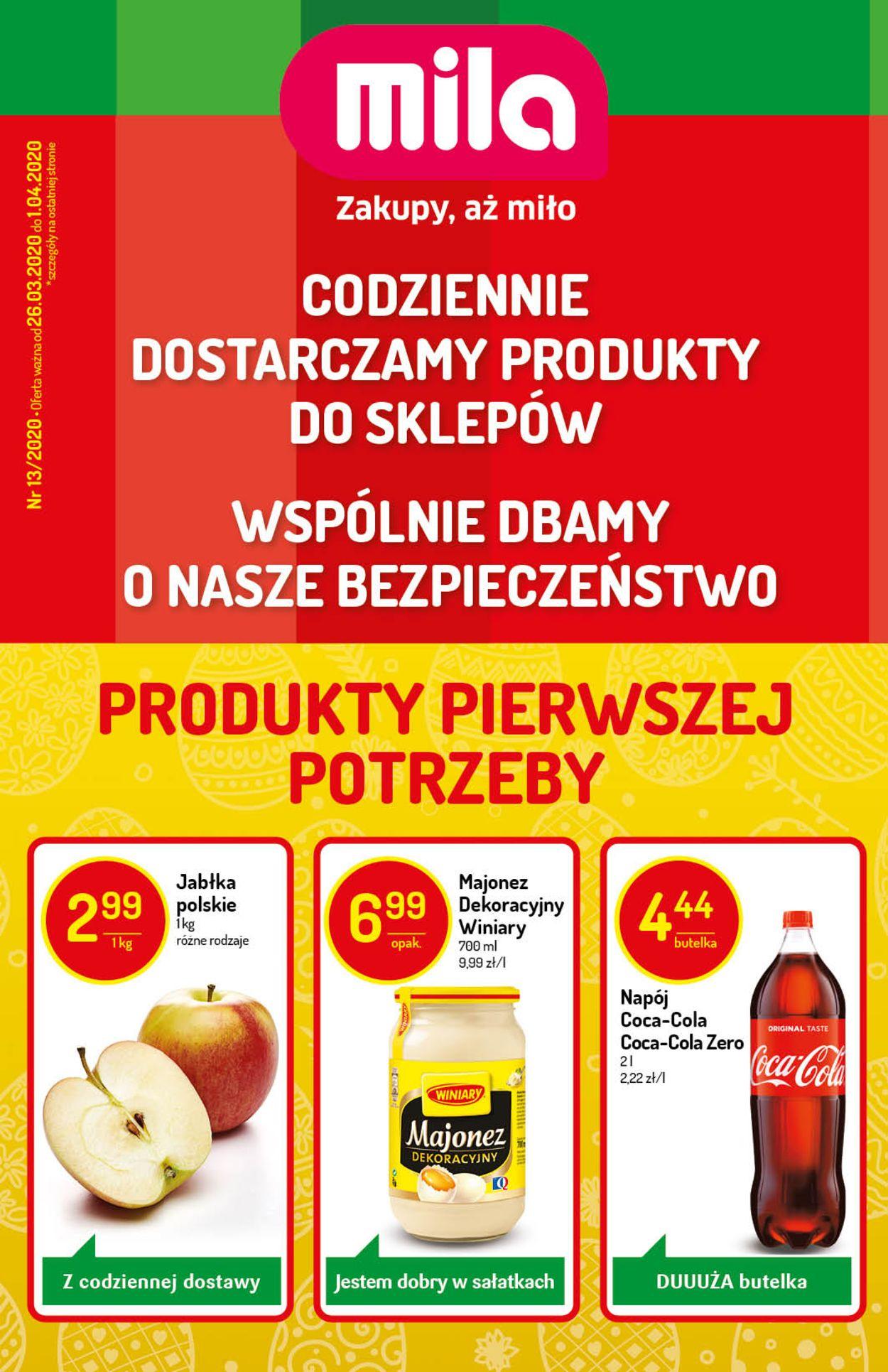 Gazetka promocyjna Mila - 26.03-01.04.2020