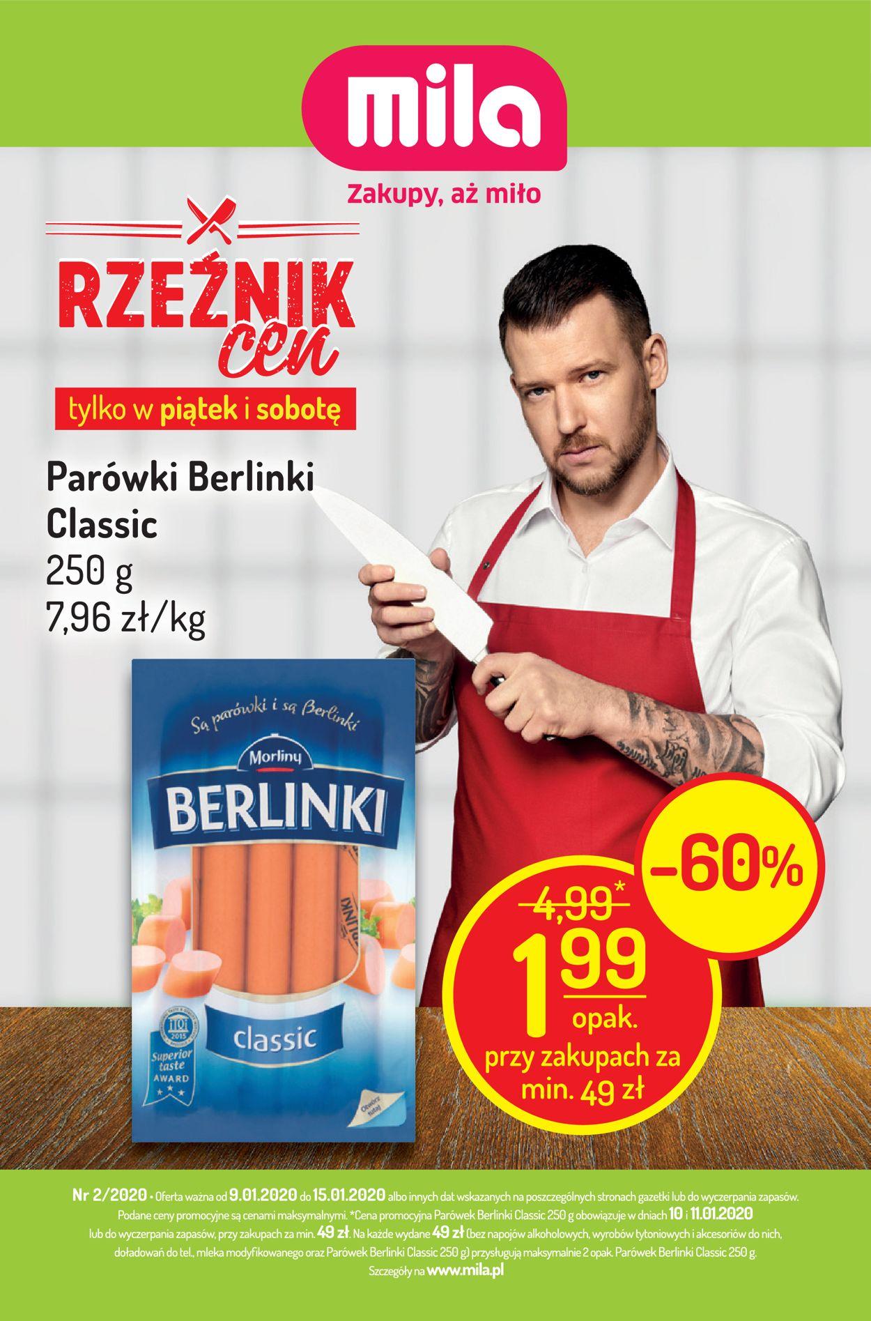 Gazetka promocyjna Mila - 09.01-15.01.2020