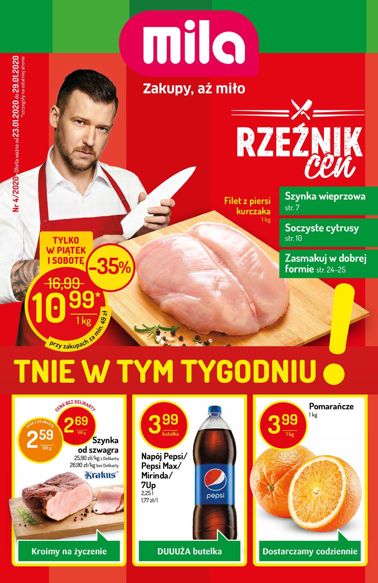 Gazetka promocyjna Mila - 23.01-29.01.2020