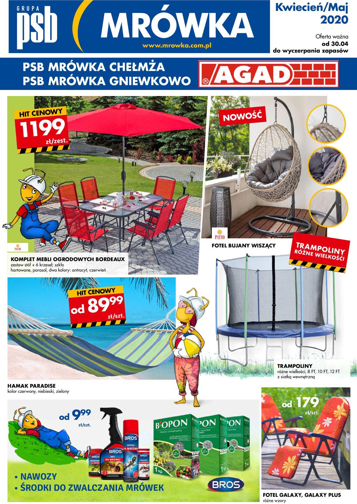 Gazetka promocyjna Mrówka - 30.04-30.05.2020