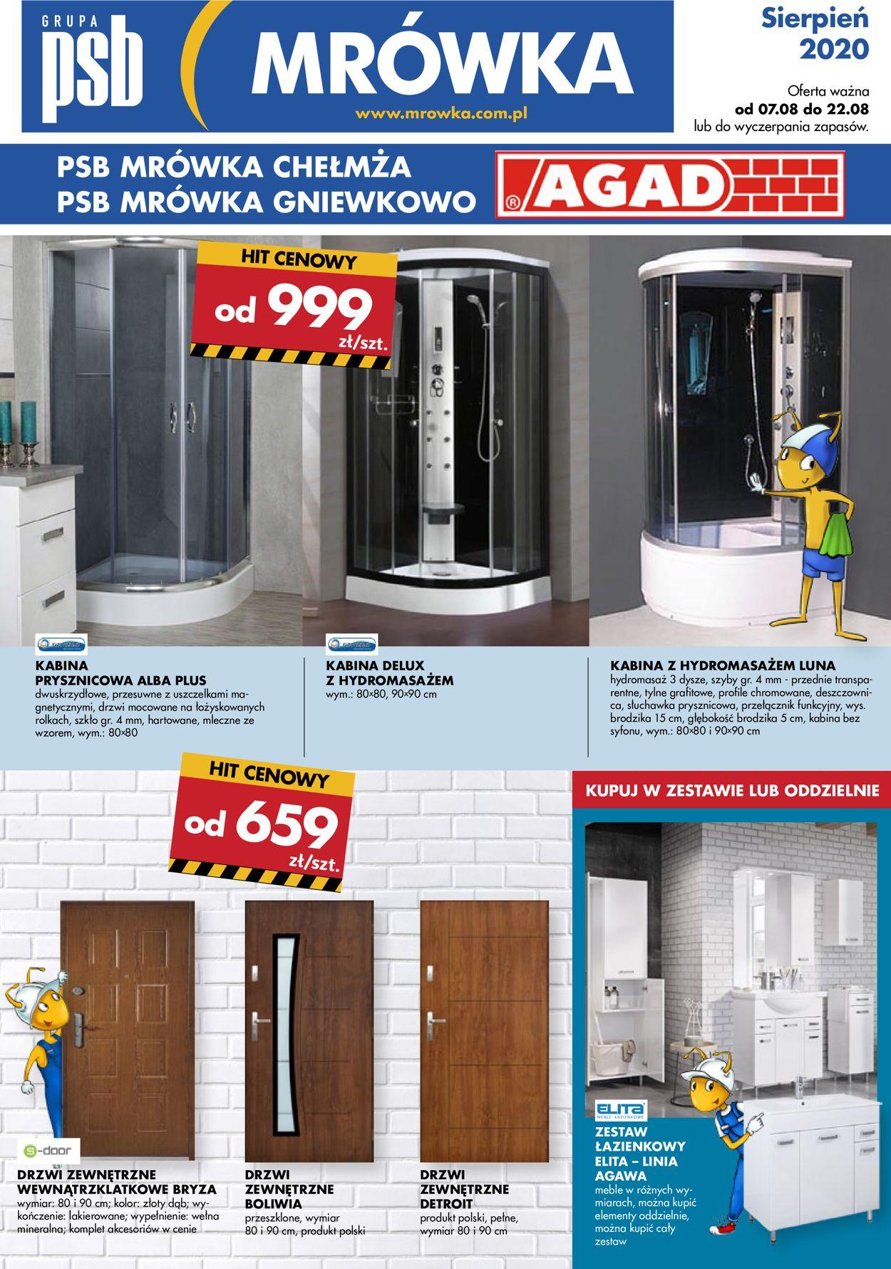 Gazetka promocyjna Mrówka - 07.08-22.08.2020