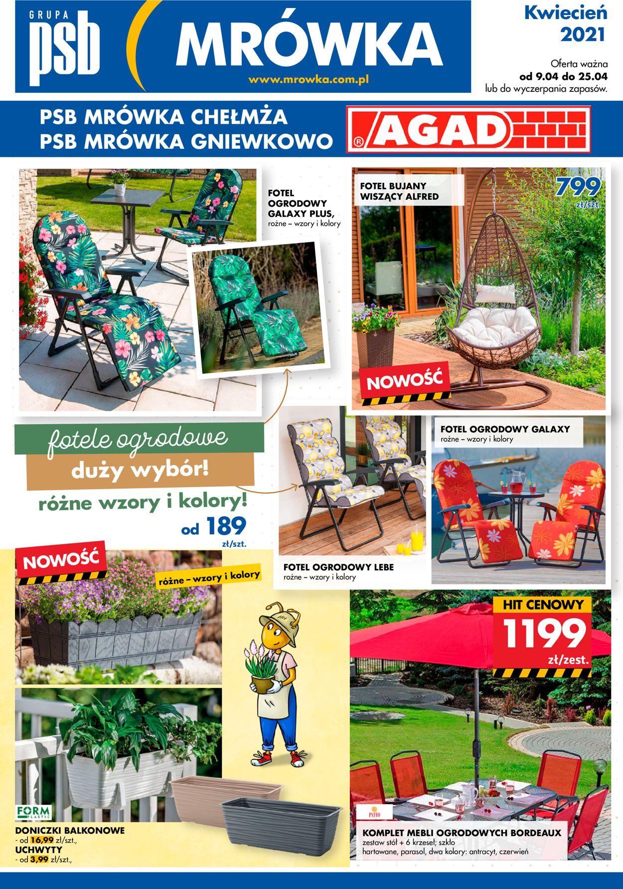 Gazetka promocyjna Mrówka - 09.04-25.04.2021