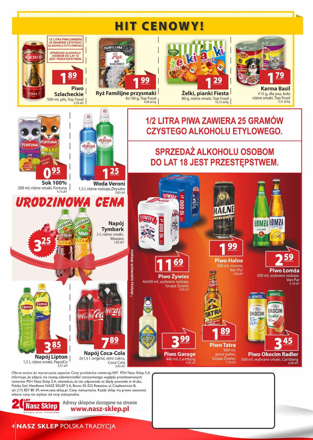Gazetka promocyjna Nasz Sklep - 13.08-22.08.2020 (Strona 4)