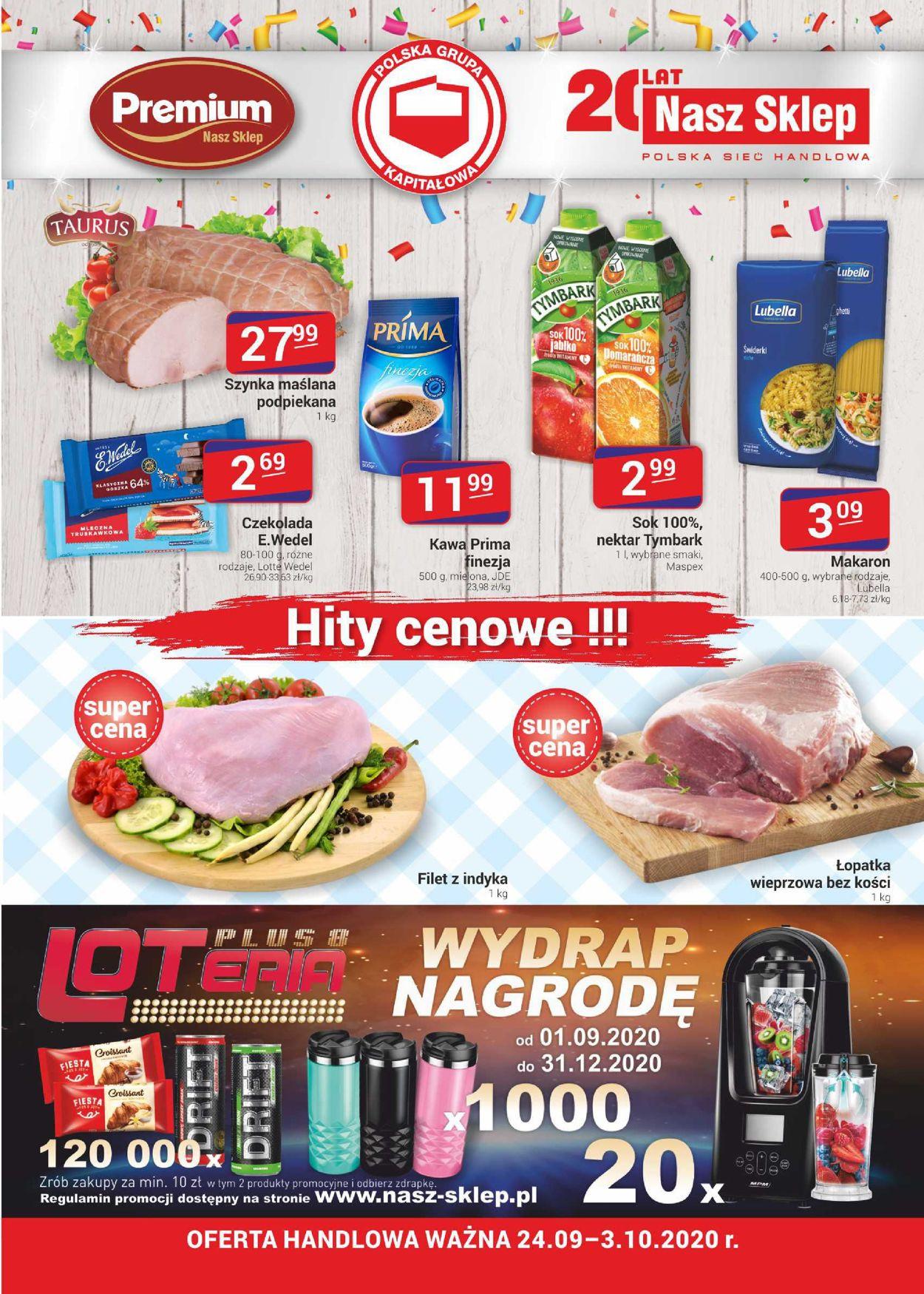Gazetka promocyjna Nasz Sklep - 24.09-03.10.2020